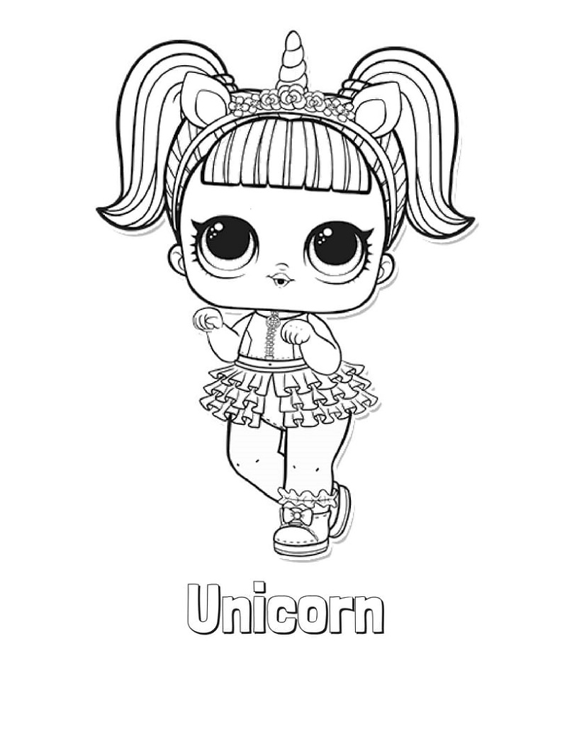 Lol Doll Coloring Pages Unicorn