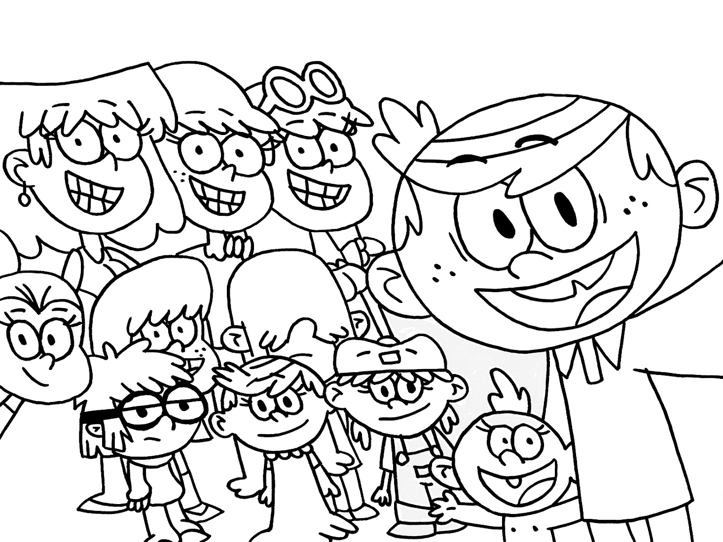 Loud House Coloring Pages Free