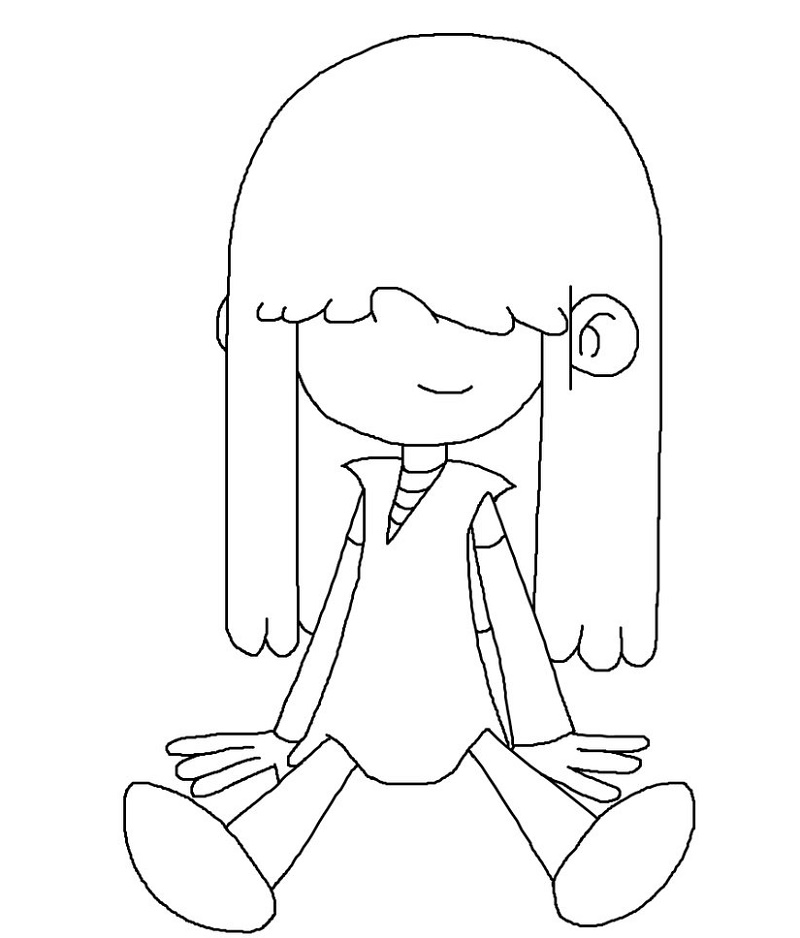 Loud House Coloring Pages Lucy