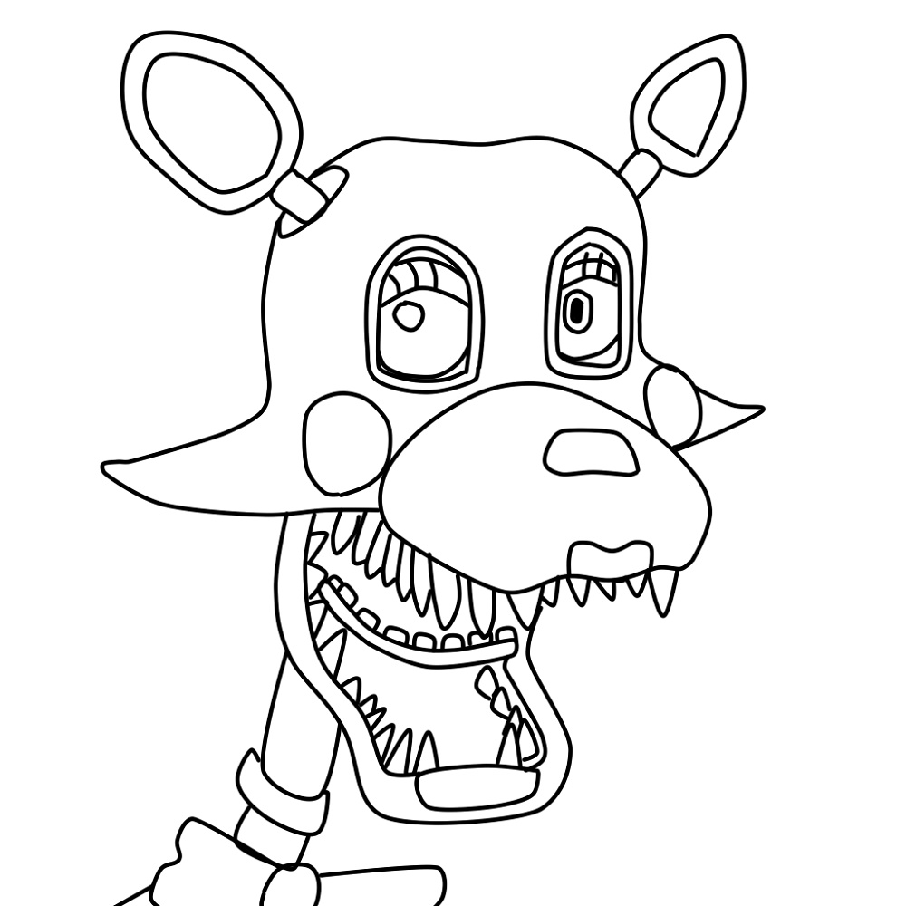 Mangle Coloring Pages Face