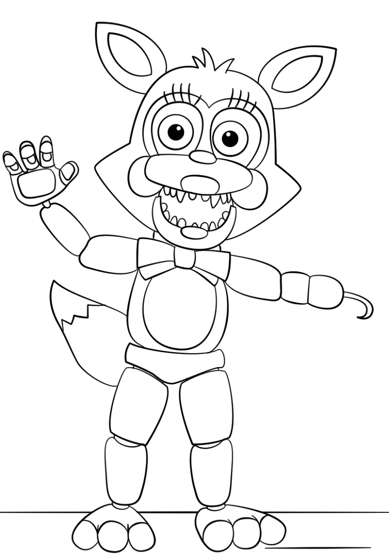 Mangle Coloring Pages Five Nights At Freddy_s