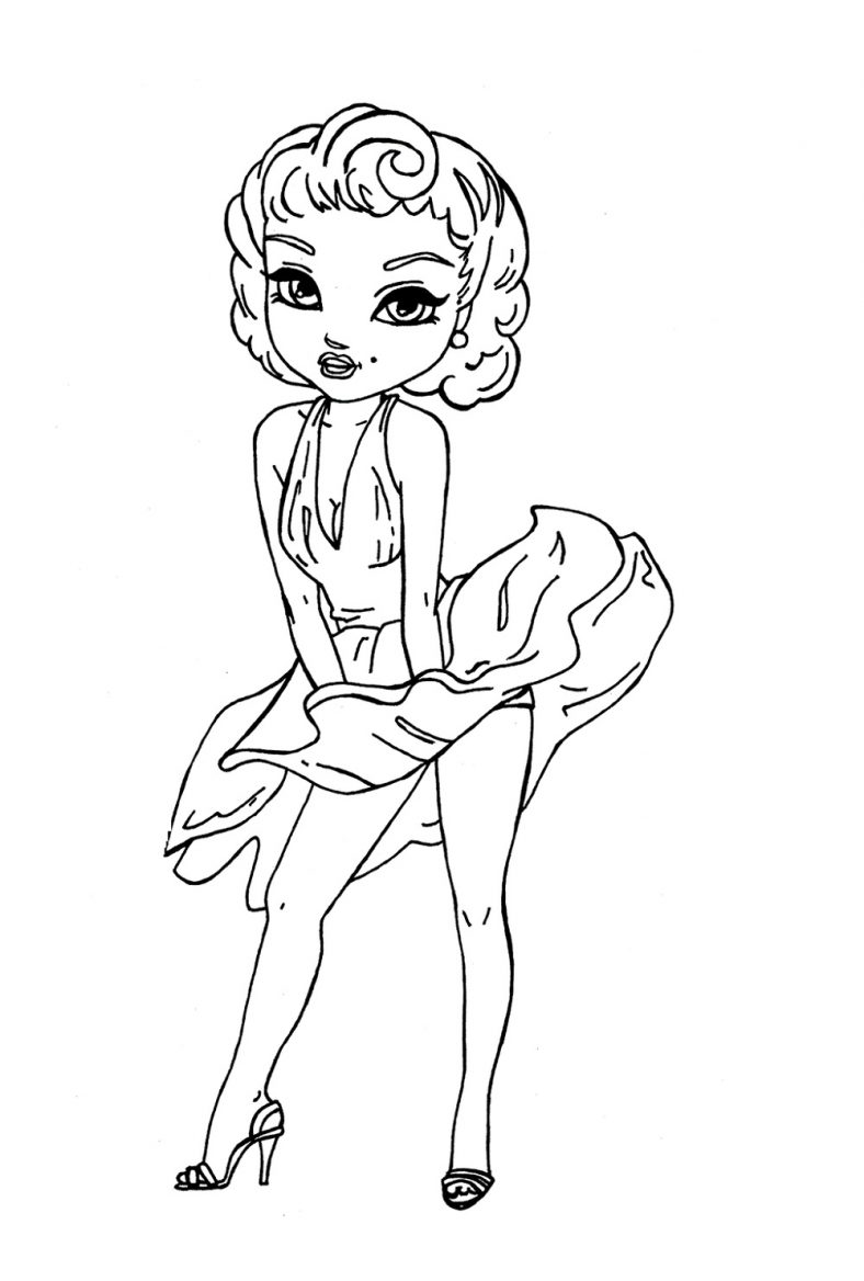 Marilyn Monroe Coloring Pages Cartoon