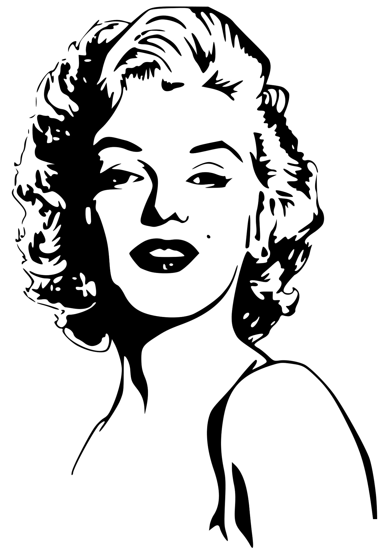 Marilyn Monroe Coloring Pages For Adults