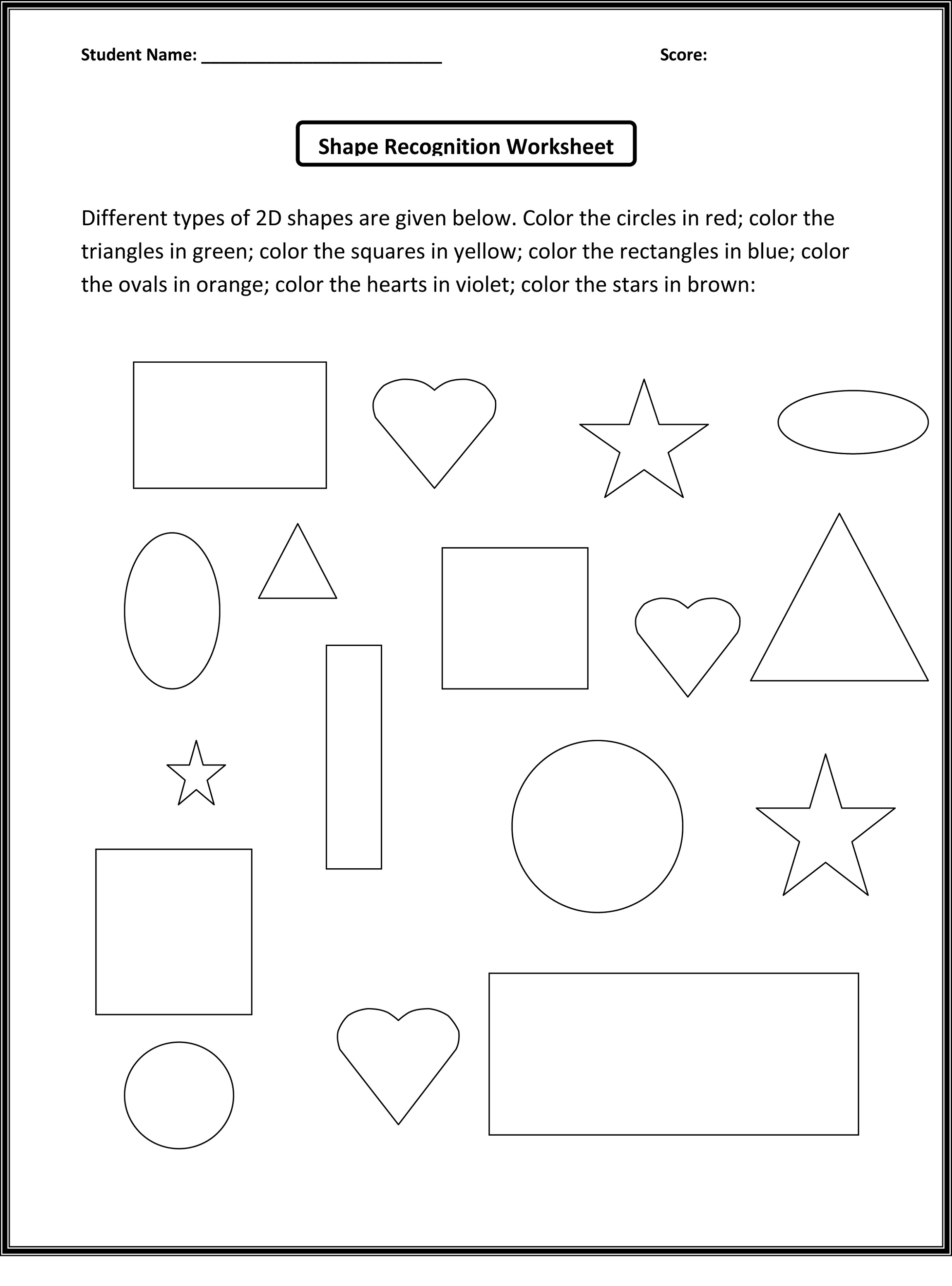 Mathworksheets4kids Shape