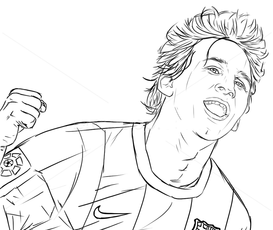 Messi Coloring Pages Free