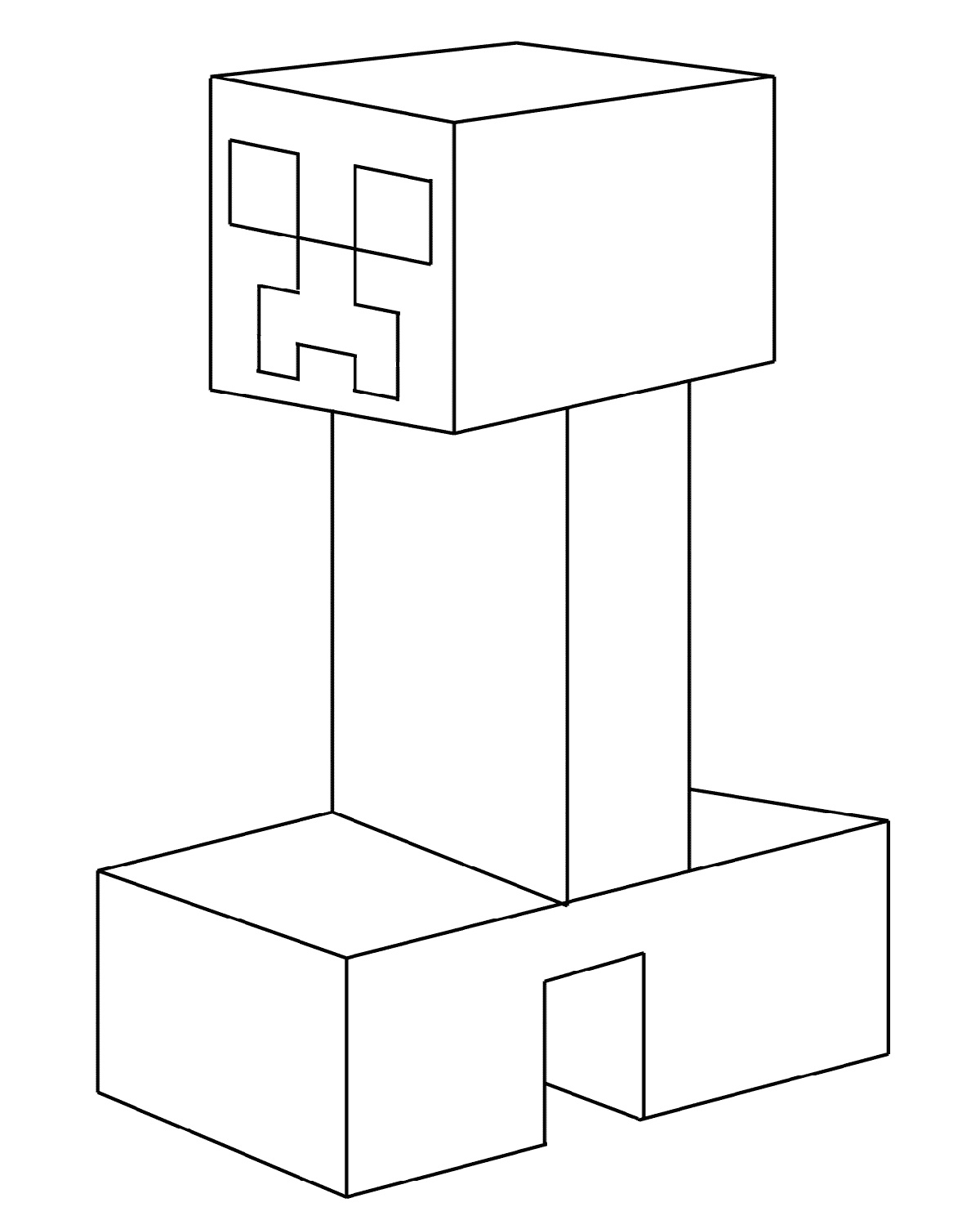 Minecraft Creeper Coloring Page For Kids