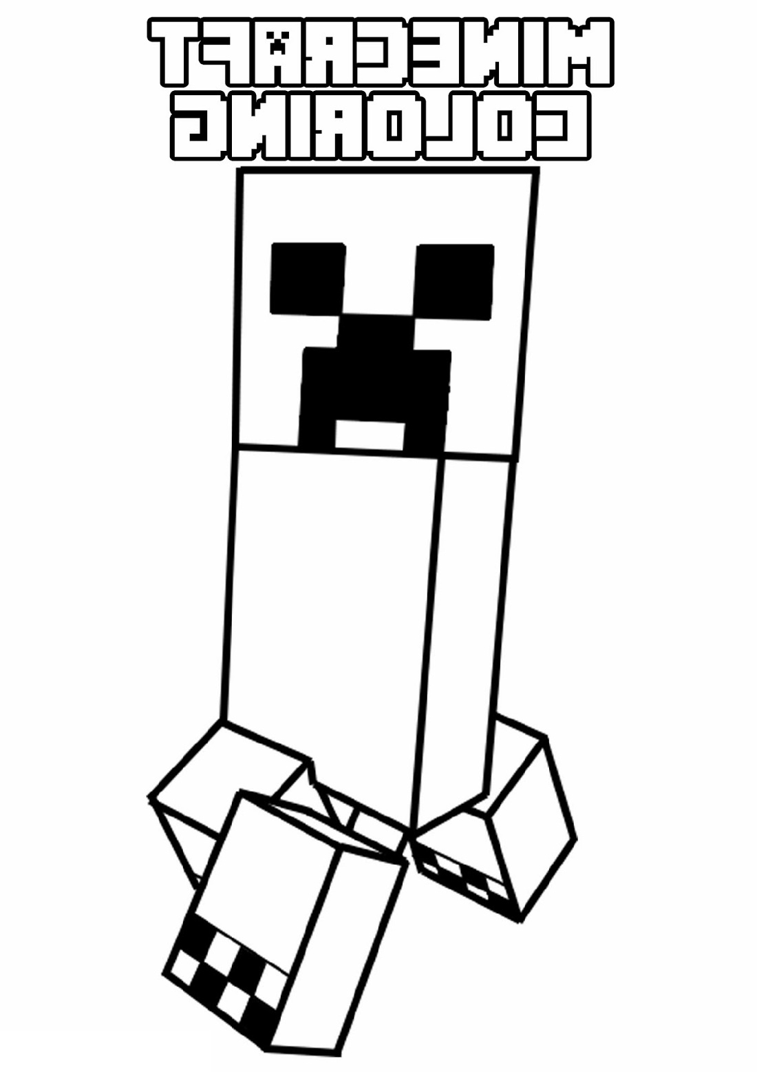 Minecraft Creeper Coloring Page Free