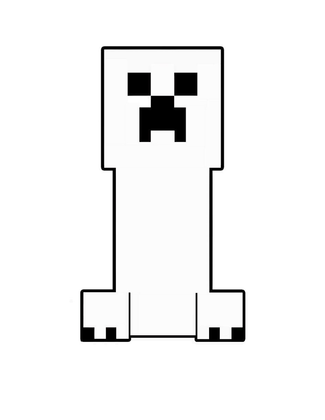 Minecraft Creeper Coloring Page Pictures