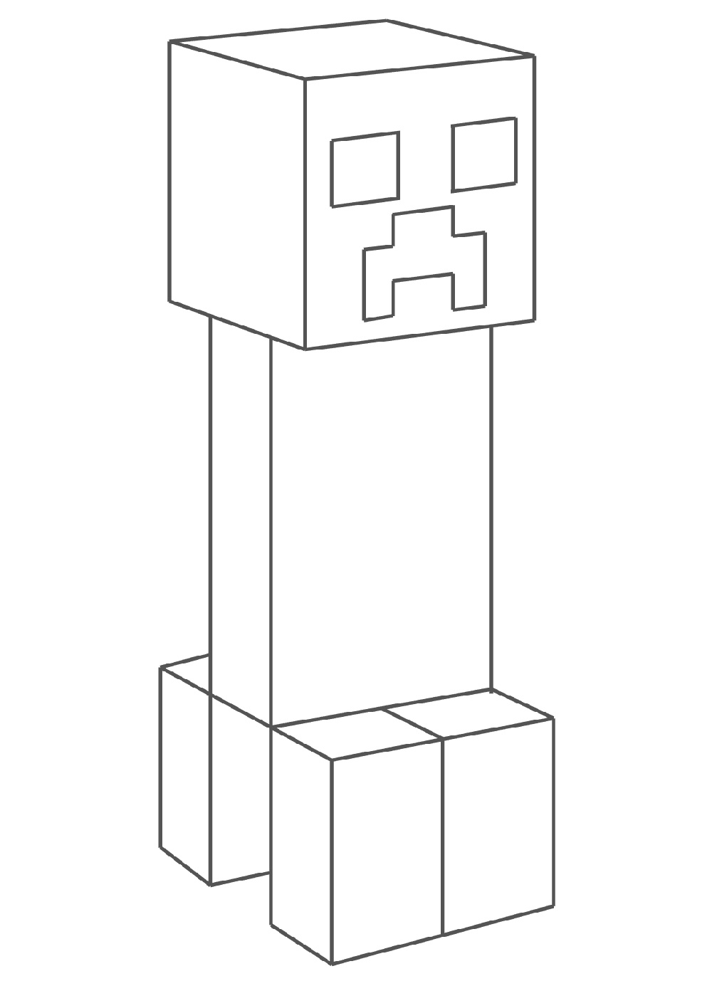 Minecraft Creeper Coloring Page Printable