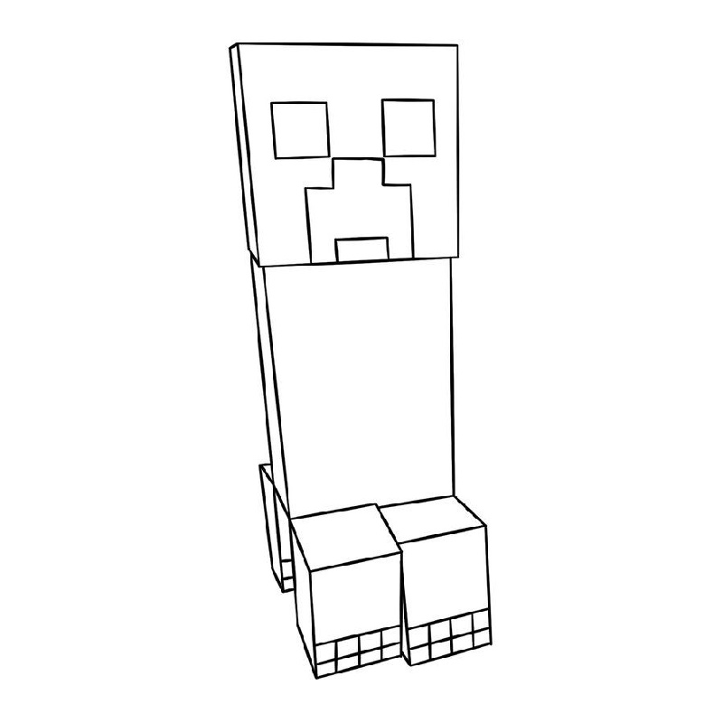 Minecraft Creeper Coloring Page To Print