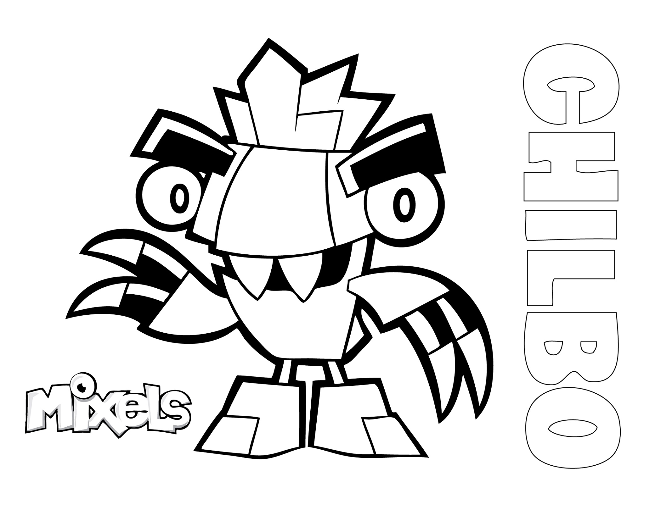 Mixels Coloring Pages Chilbo