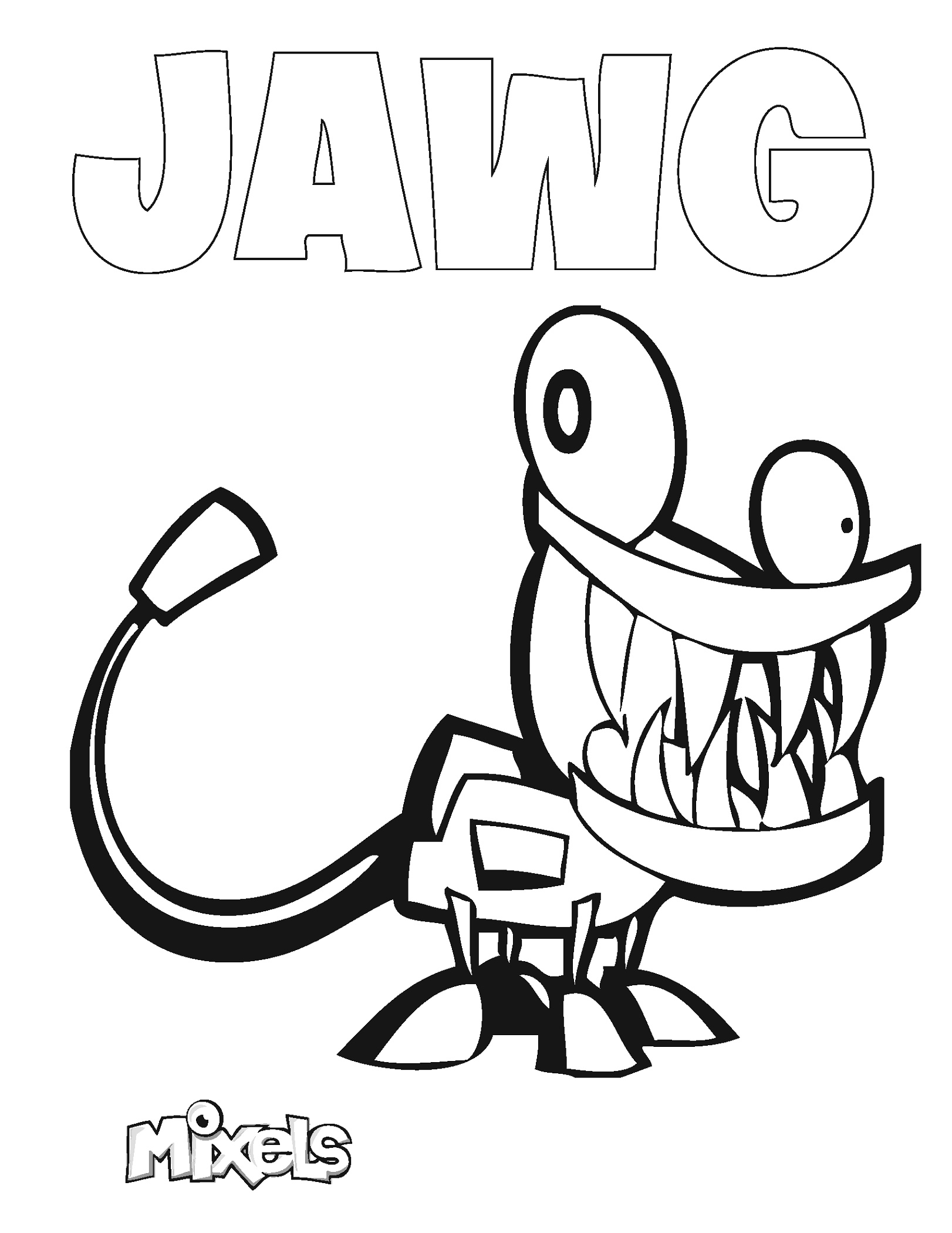 Mixels Coloring Pages Jawg
