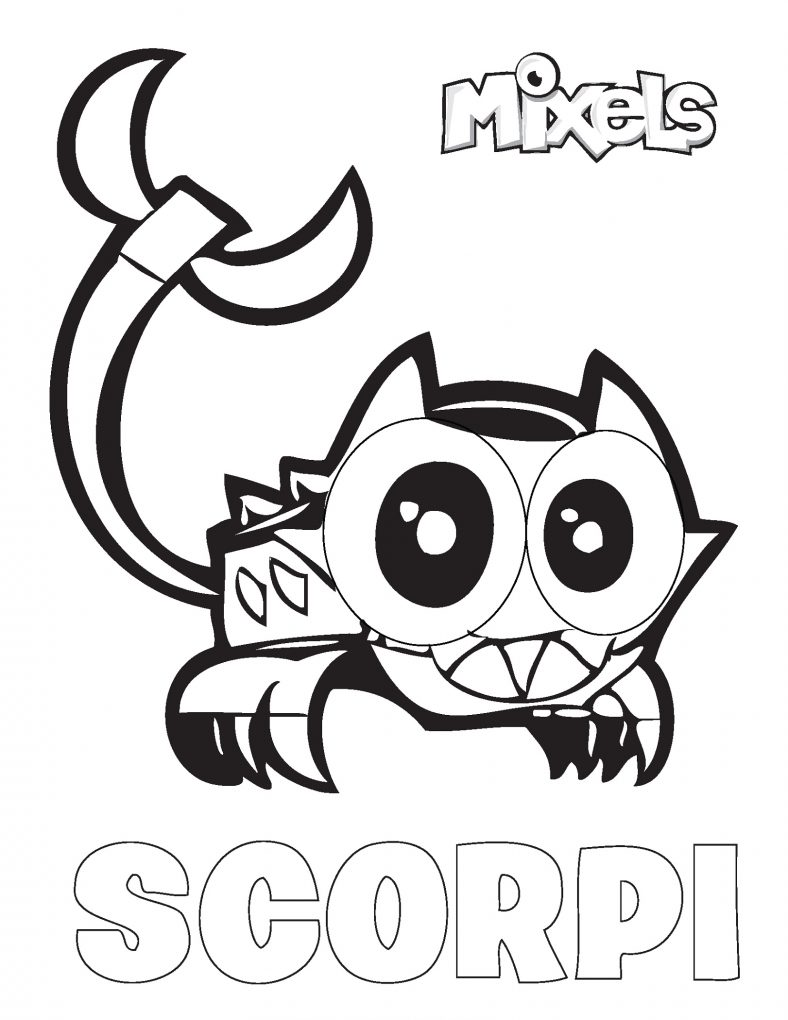 Mixels Coloring Pages Scorpi