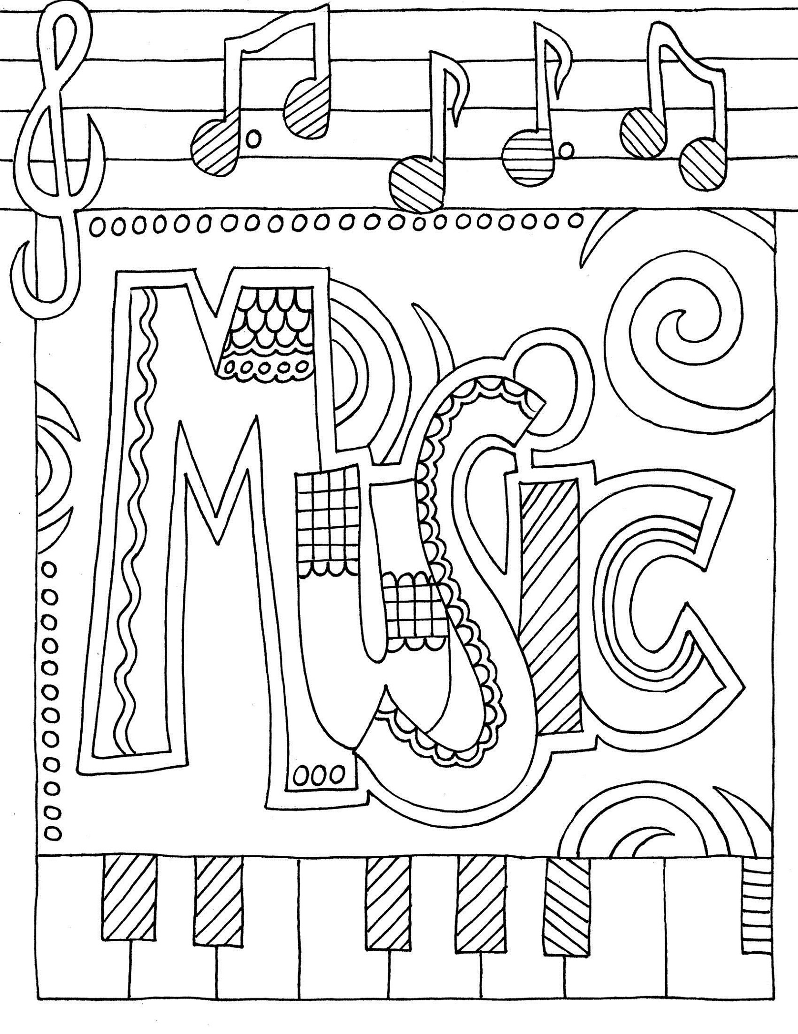 Music Coloring Pages Doodle