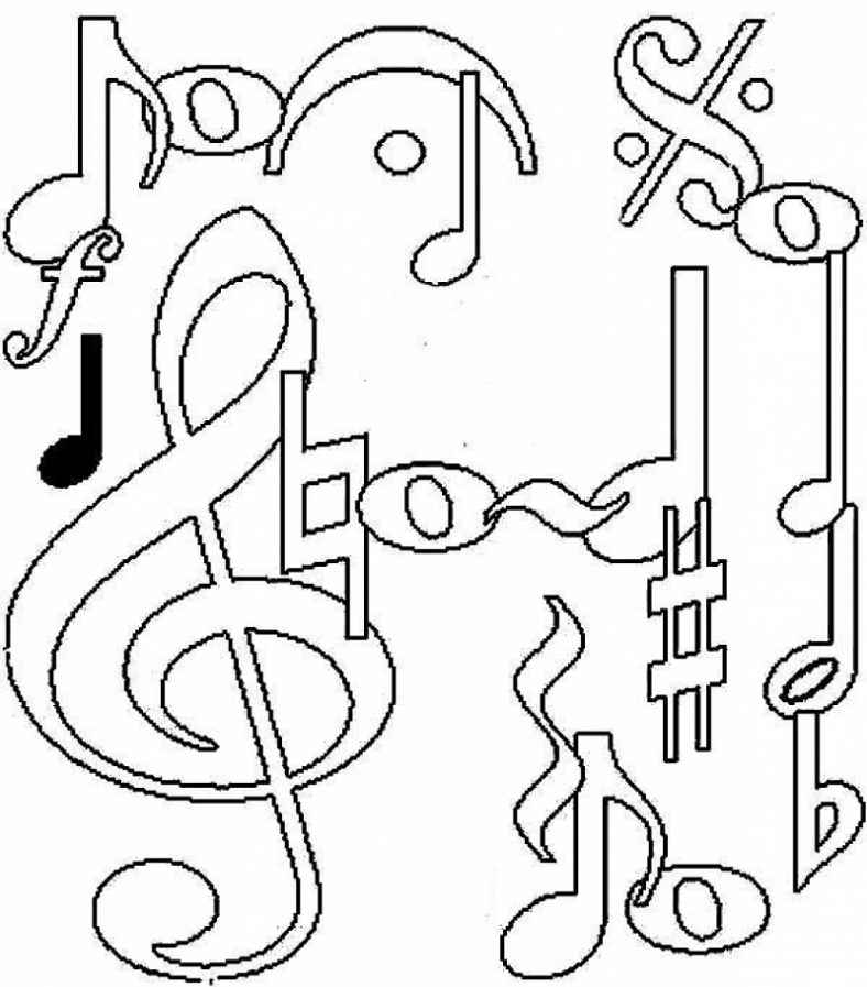 Music Coloring Pages Pictures