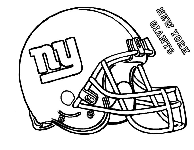 Nfl Coloring Pages Helmets