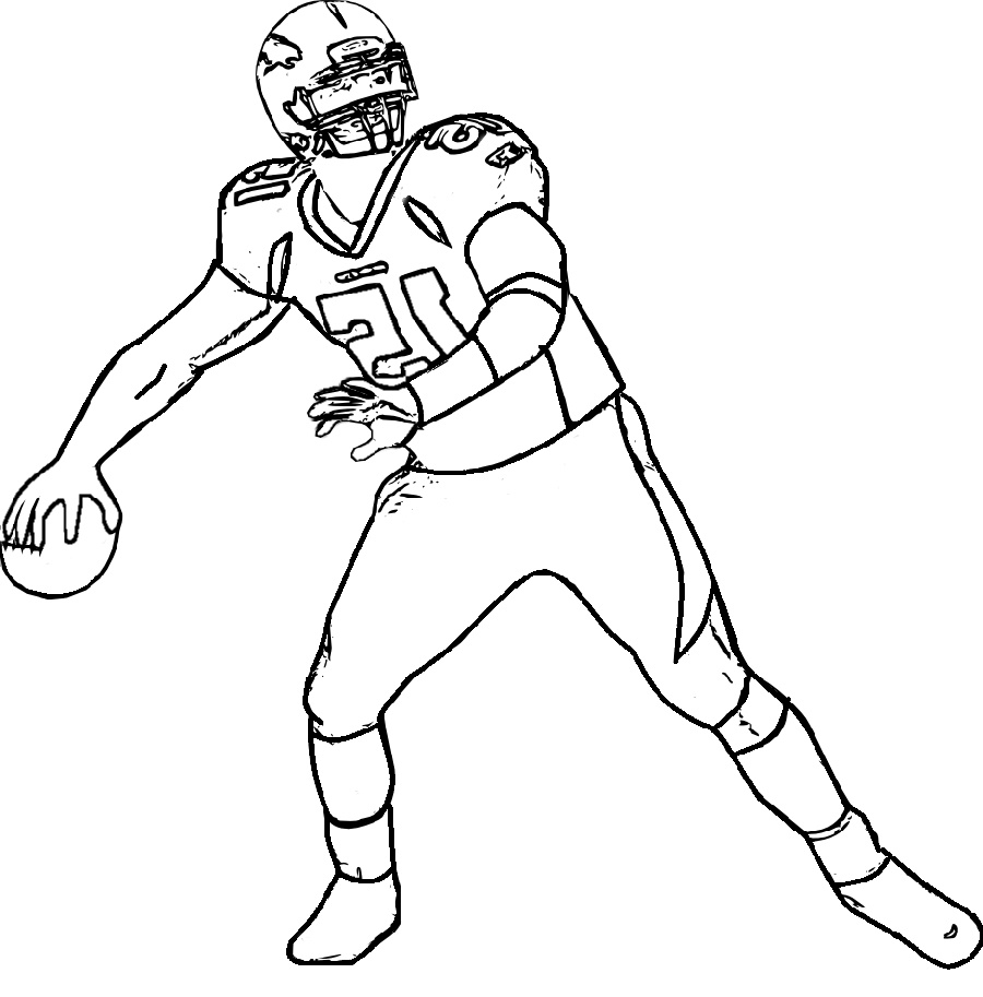 Nfl Coloring Pages Player