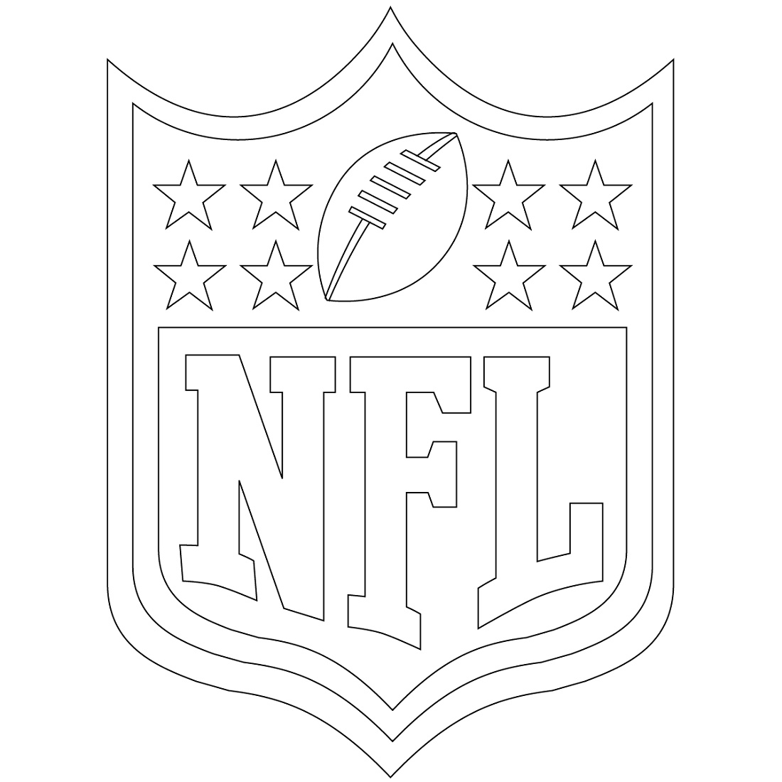 Nfl Coloring Pages Shield