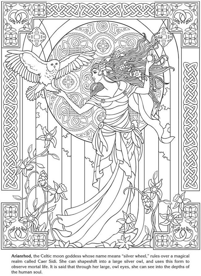 Pagan Coloring Pages Goddess