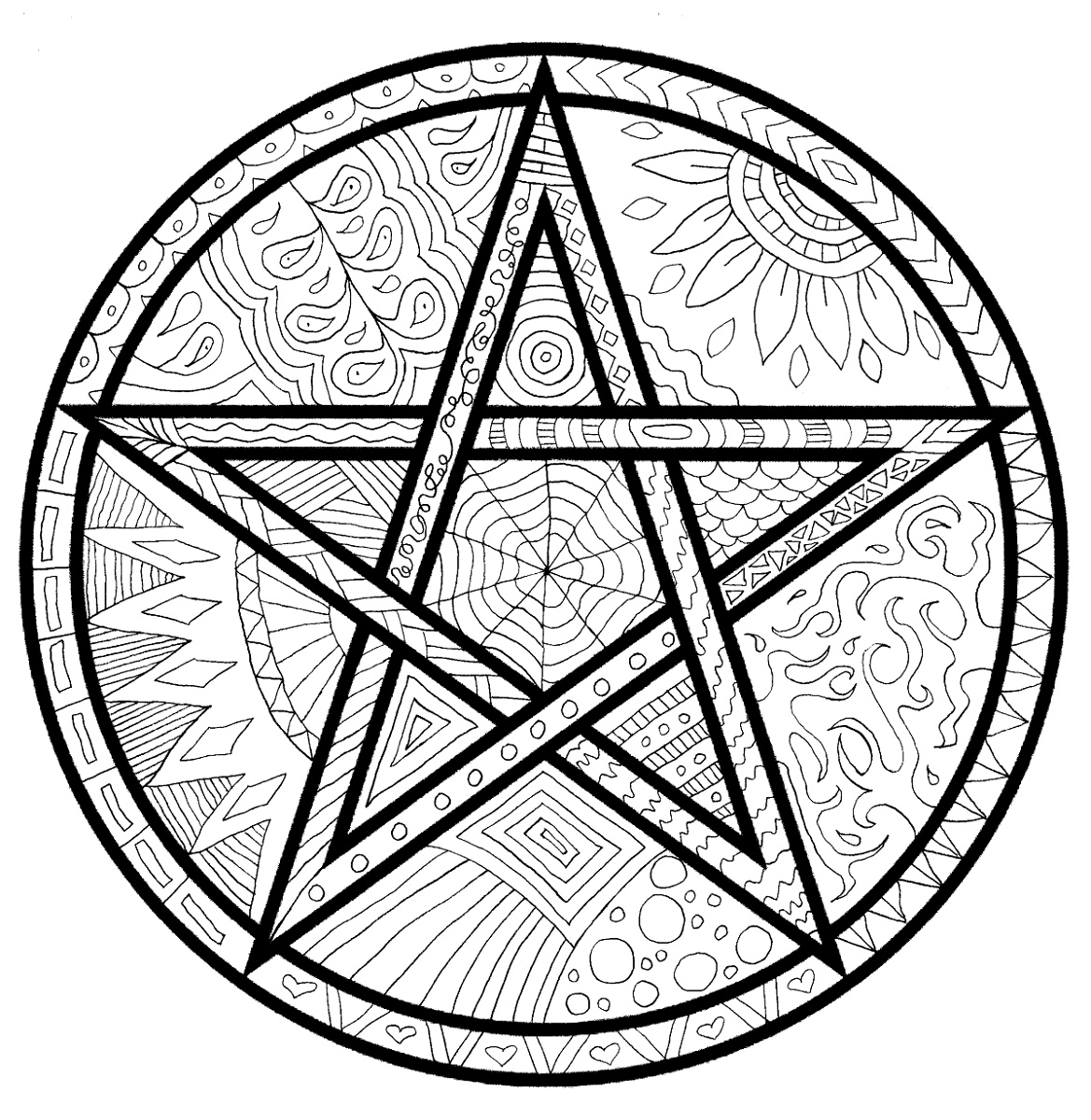 Pagan Coloring Pages Wiccan