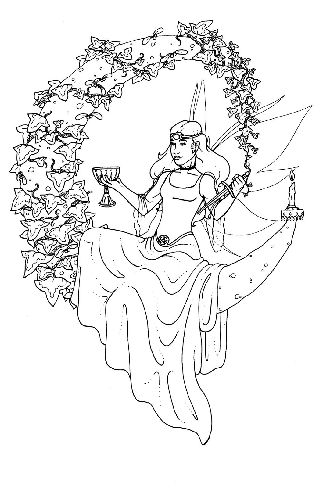 Pagan Coloring Pages Yule Tide