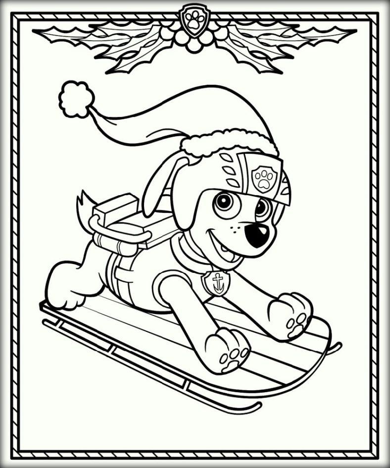 Paw Patrol Coloring Christmas
