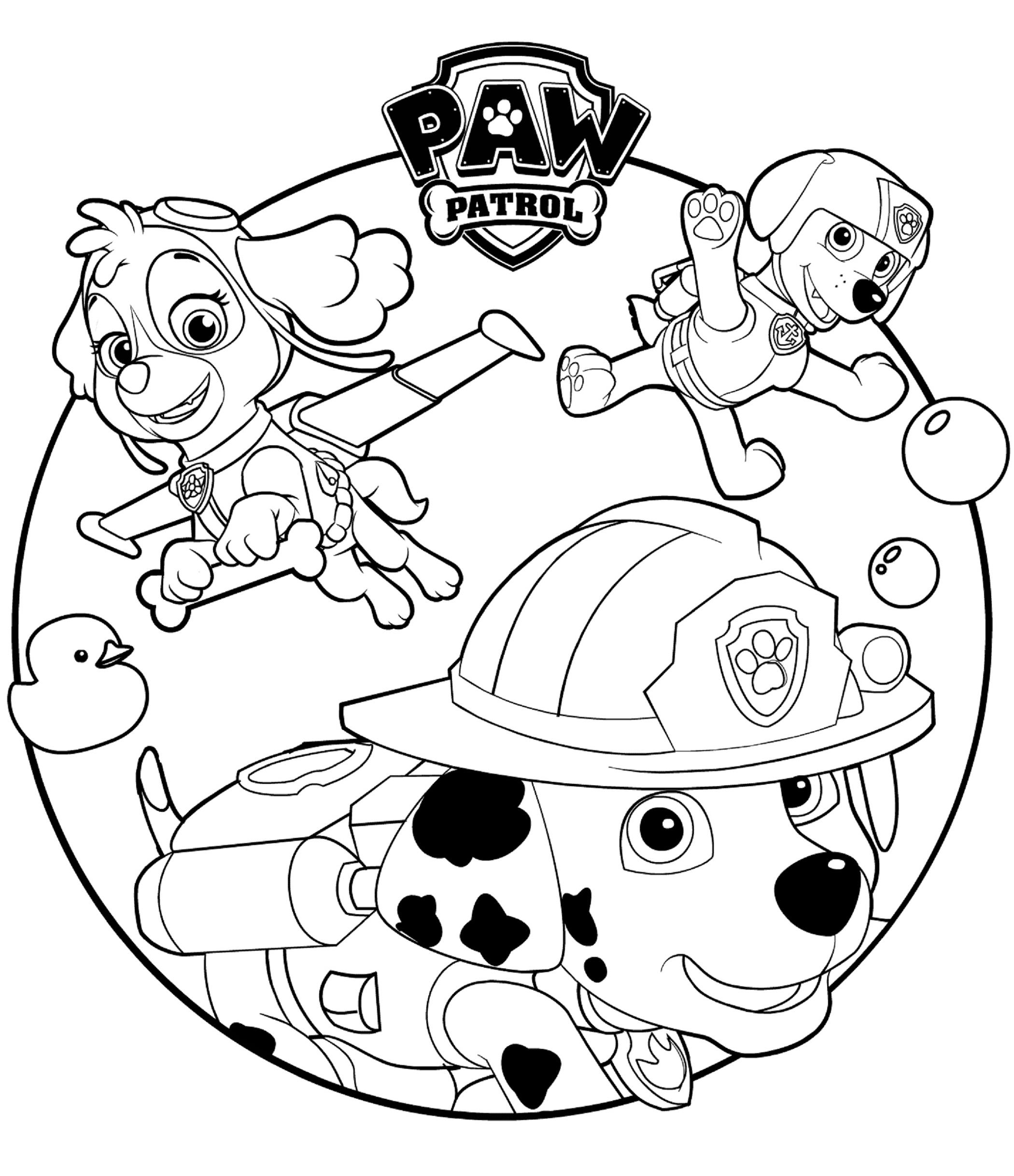 Paw Patrol Coloring Printable