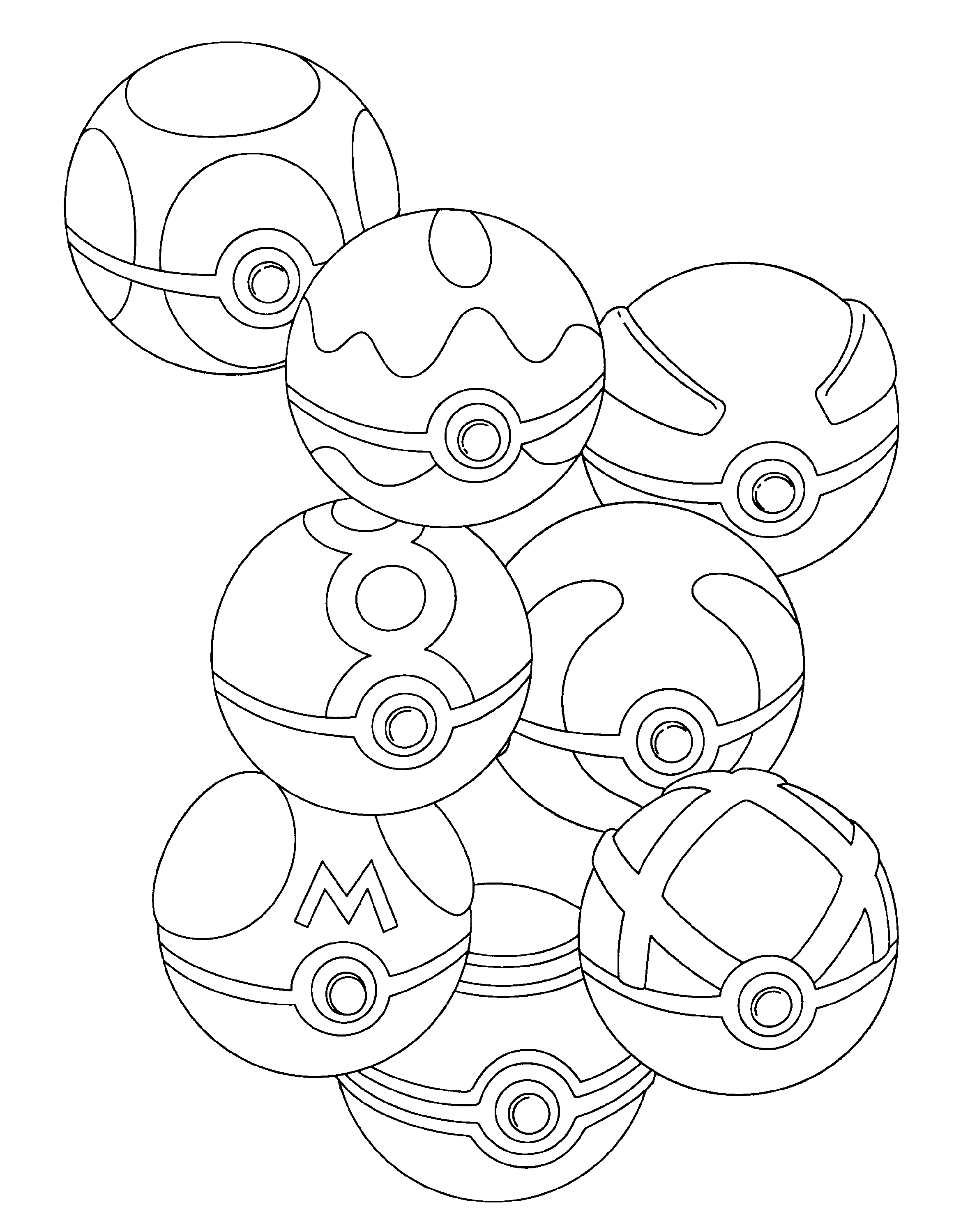Pokeball Coloring Pages Master Ball