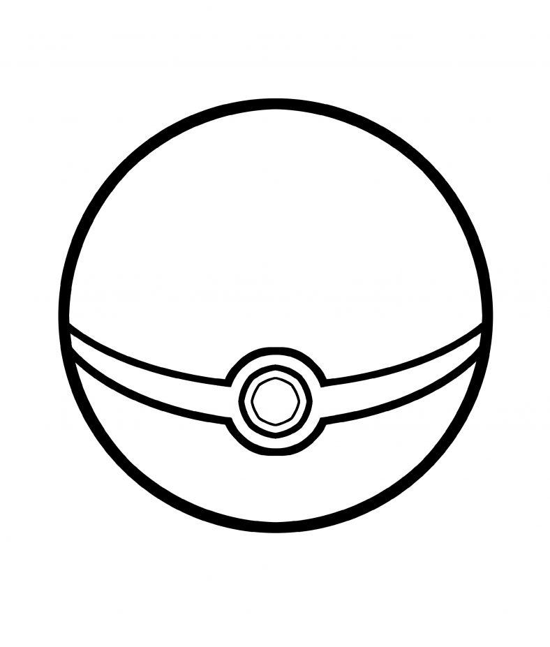 Pokeball Coloring Pages Pokemon Ball