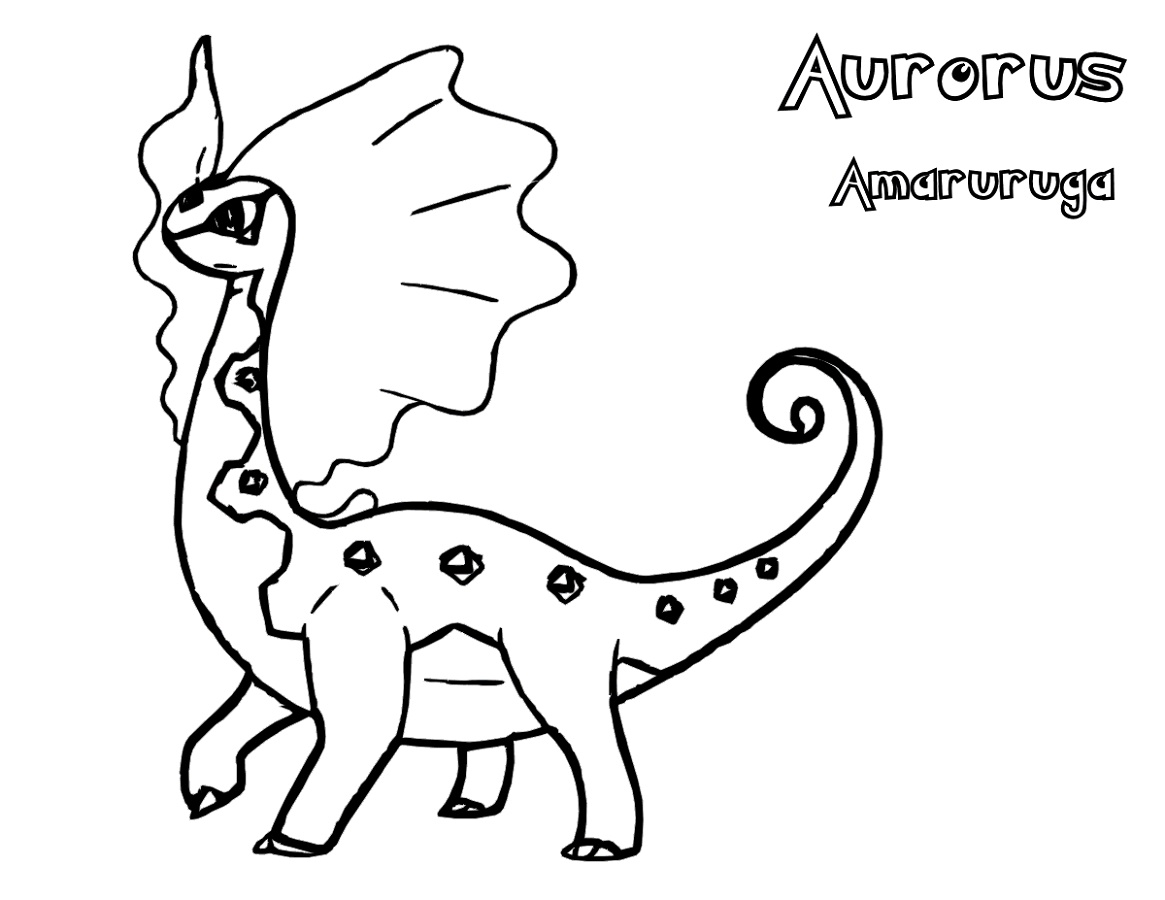 Pokemon Ex Coloring Pages Aurorus