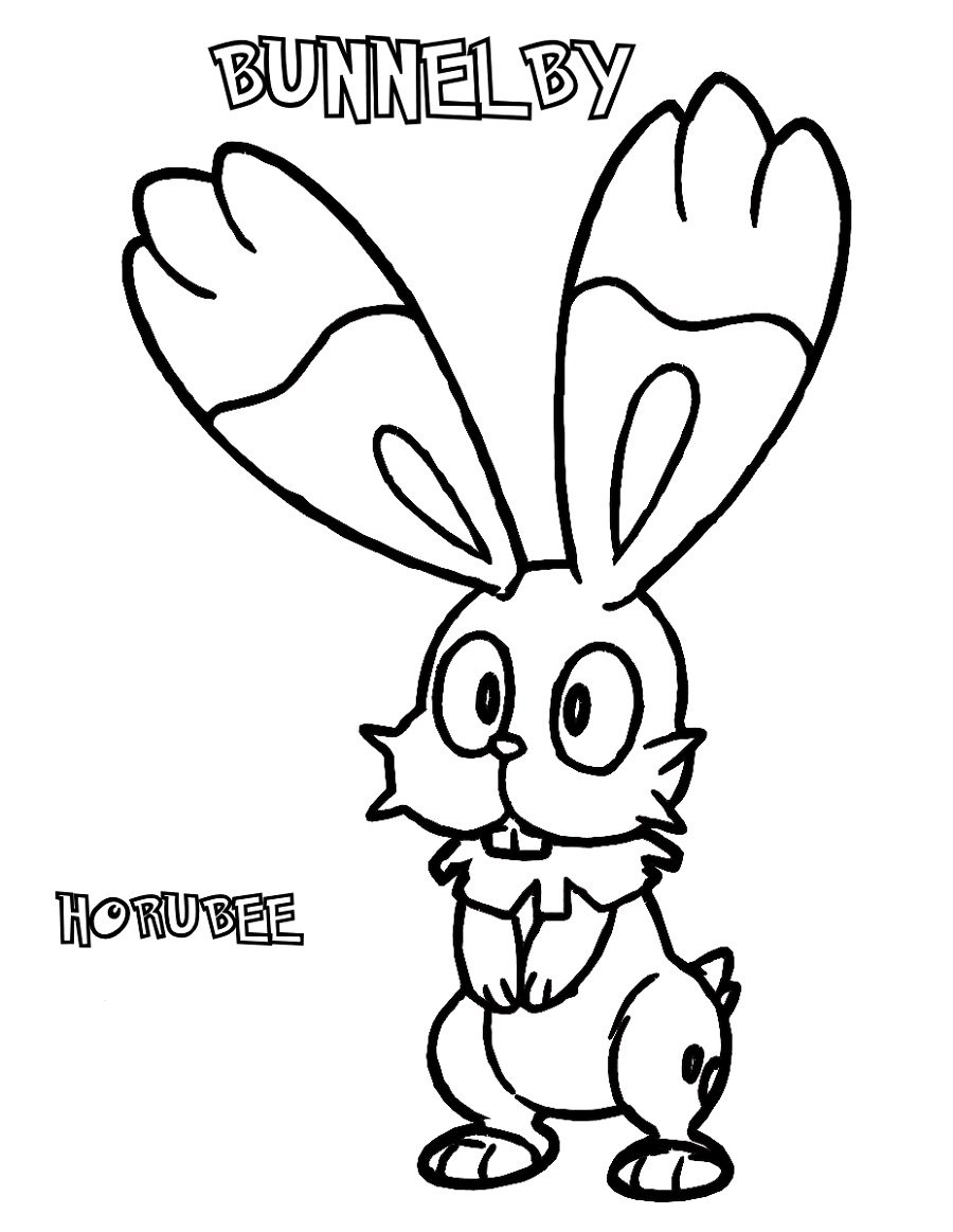 Pokemon Ex Coloring Pages Bunnelby