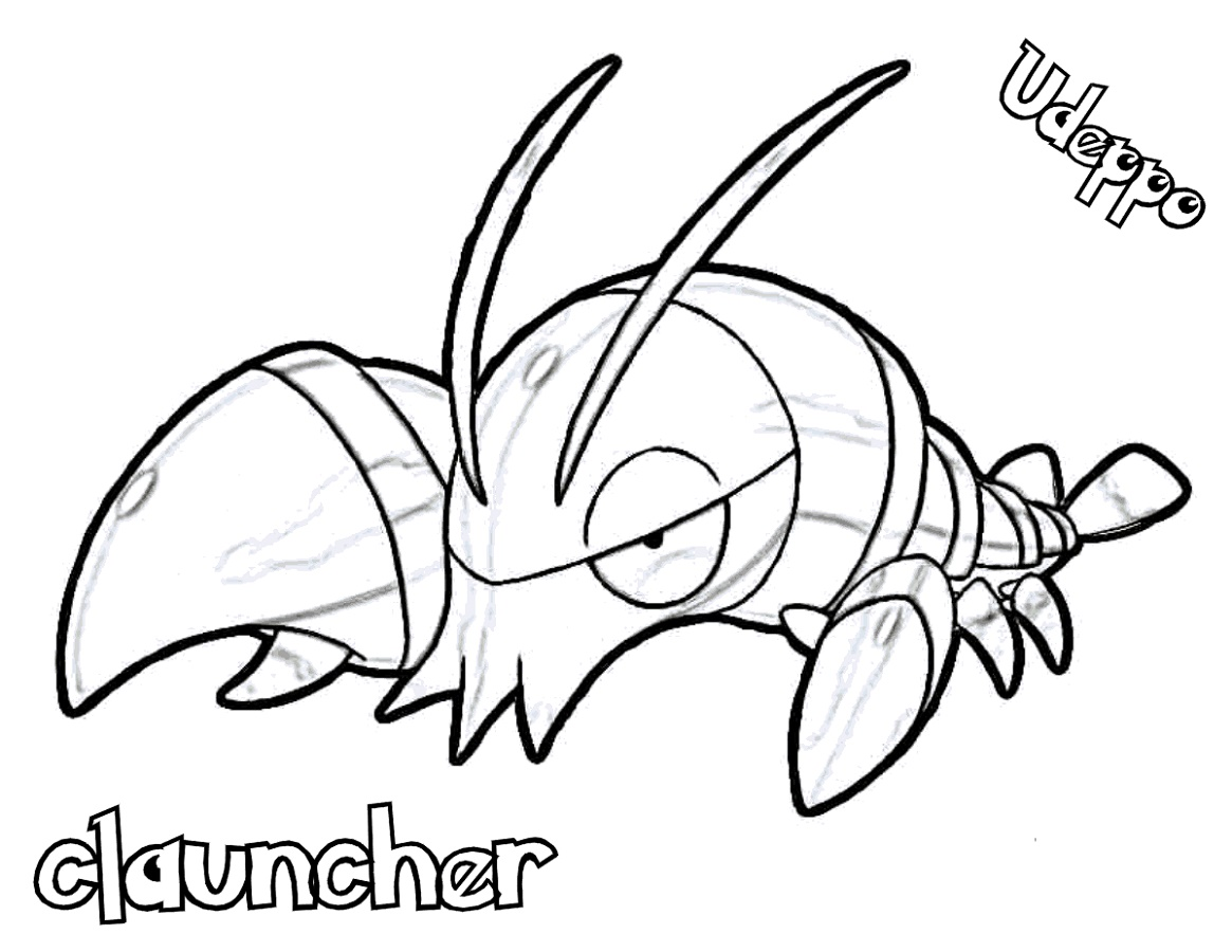 Pokemon Ex Coloring Pages Clauncher