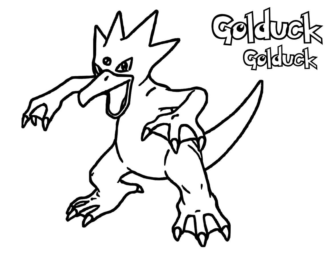 Pokemon Ex Coloring Pages Golduck