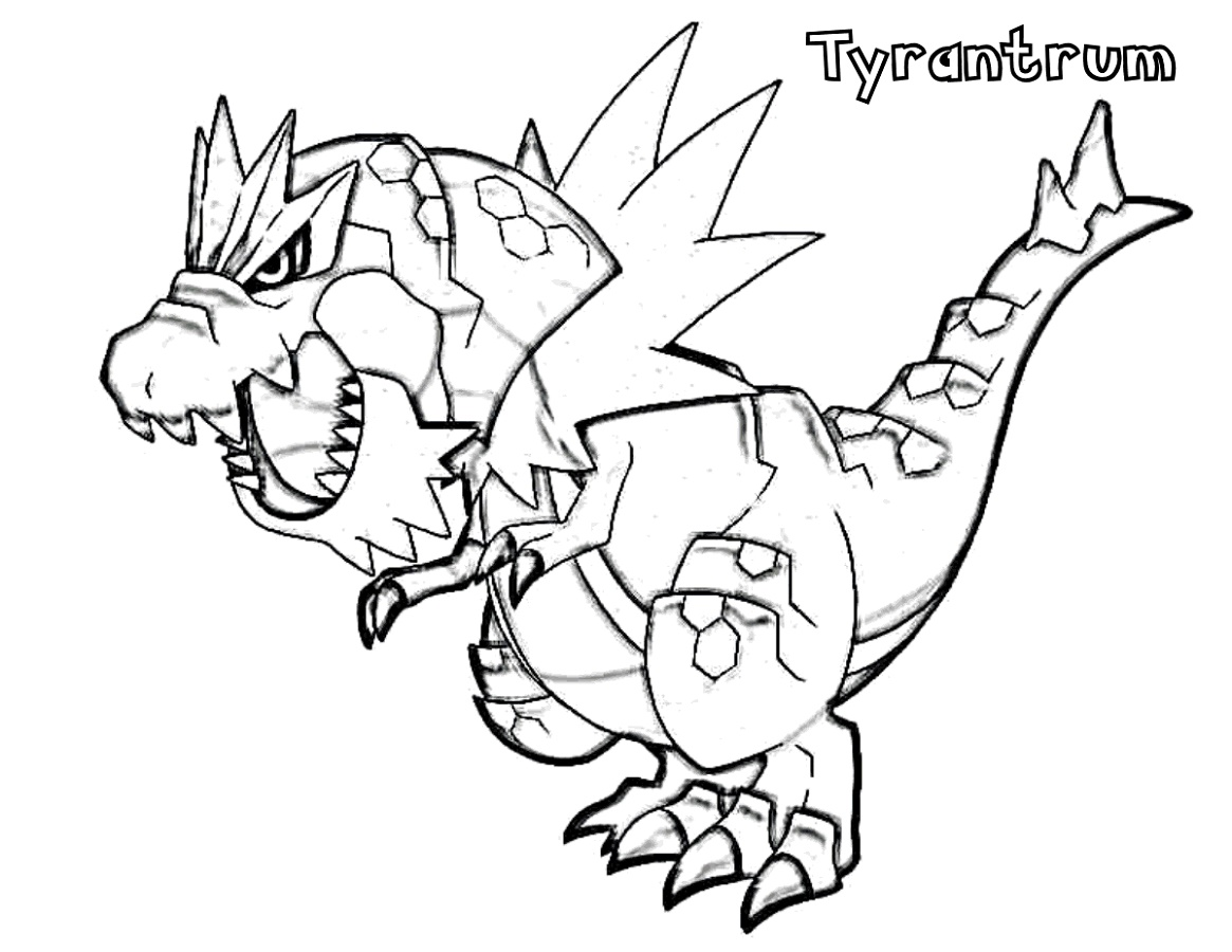 Pokemon Ex Coloring Pages Tyrantrum