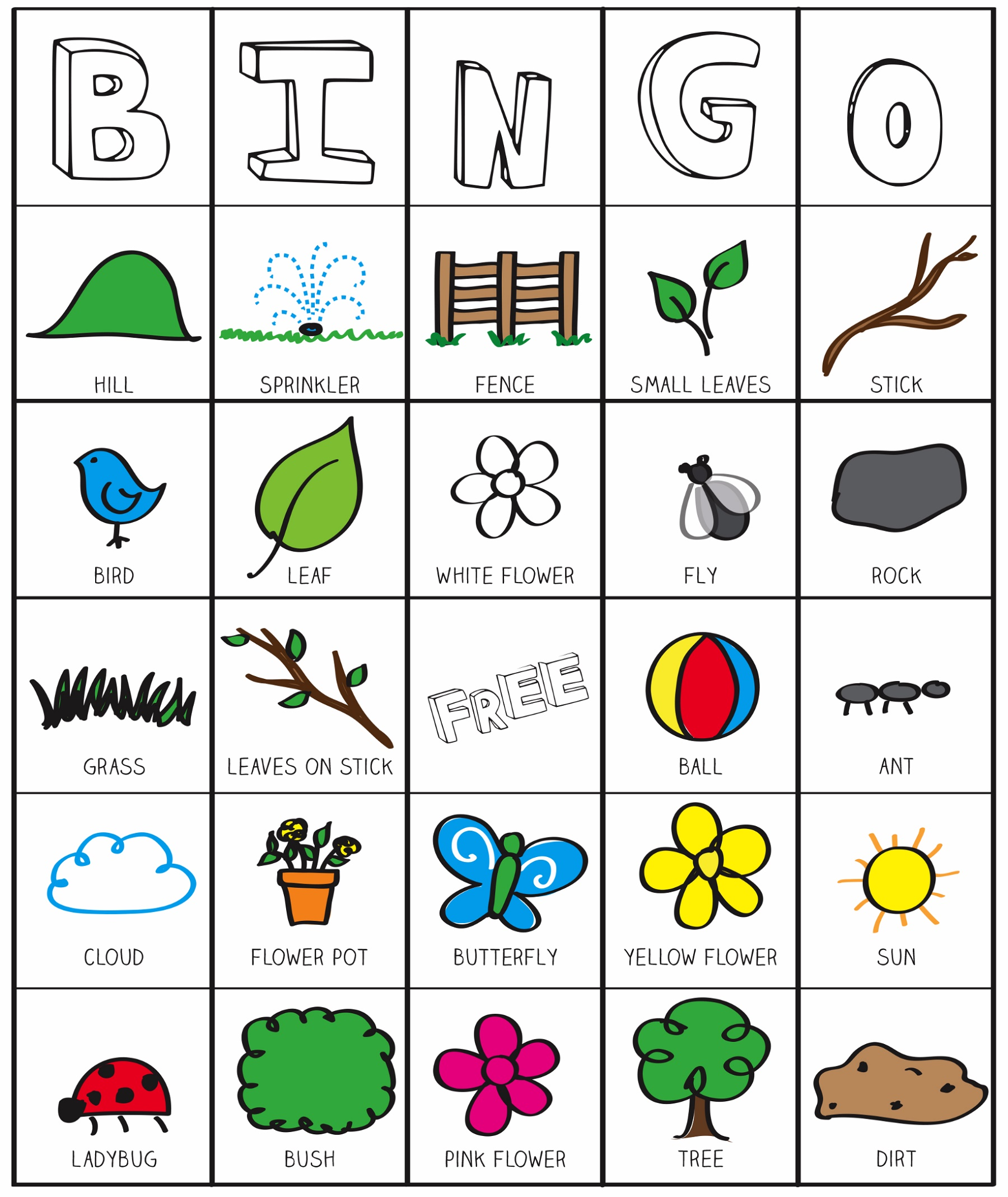 Printable Games For Kids Bingo