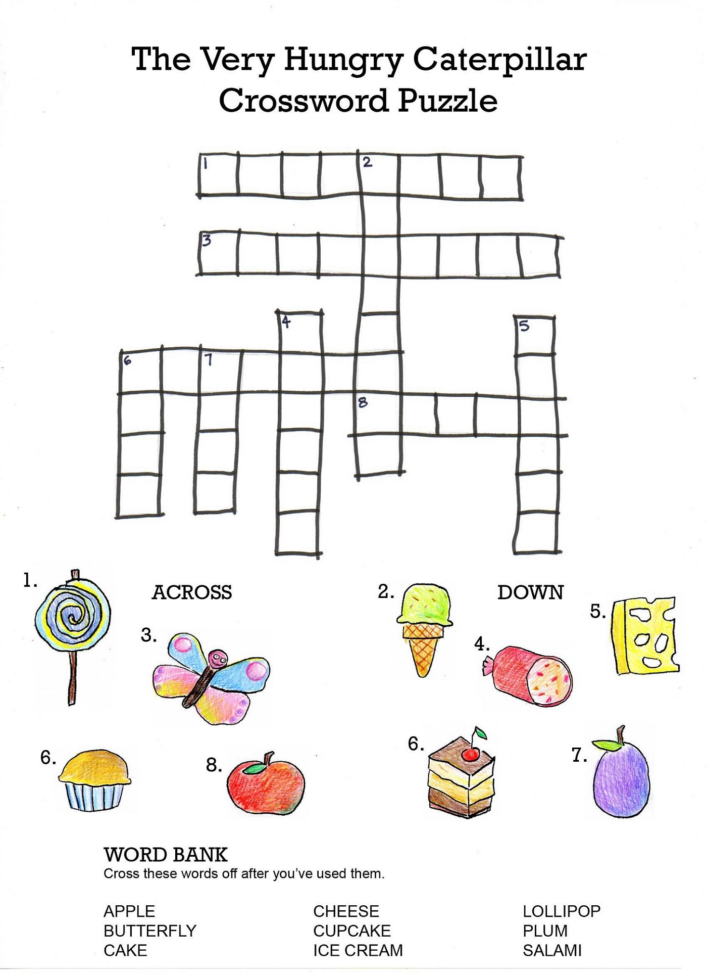 Printable Games For Kids Crosswords