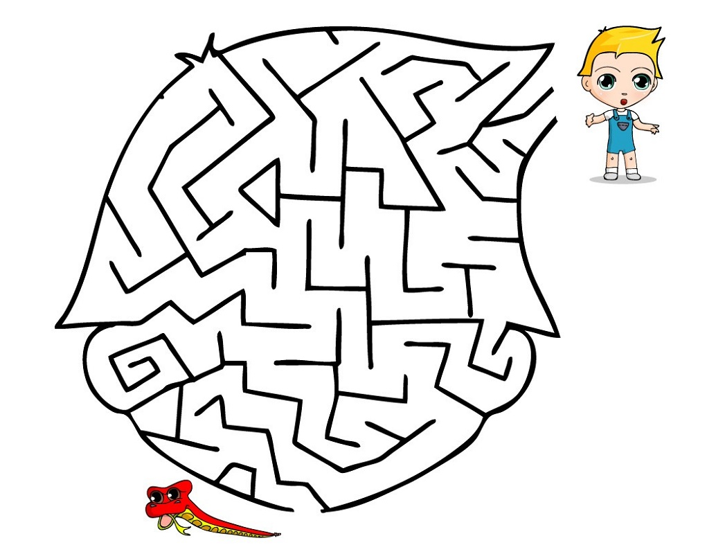 Printable Games For Kids Maze