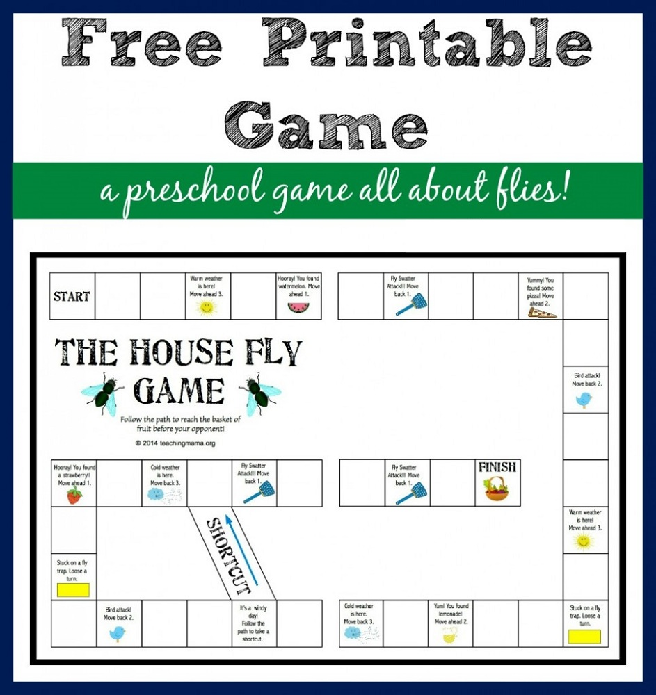 Printable Games For Kids The House Fly Game
