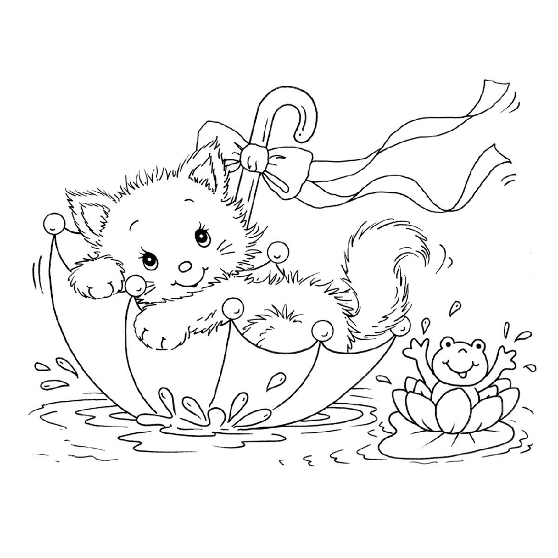 Printable Kitten Coloring Pages Cute