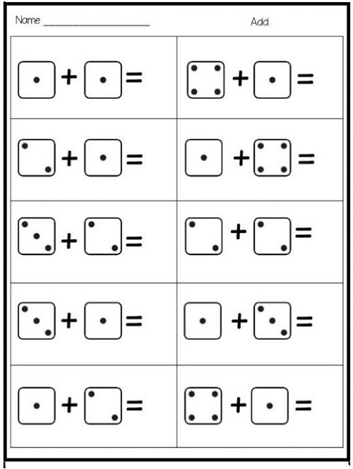 Printable Maths Paper For Kindergarten