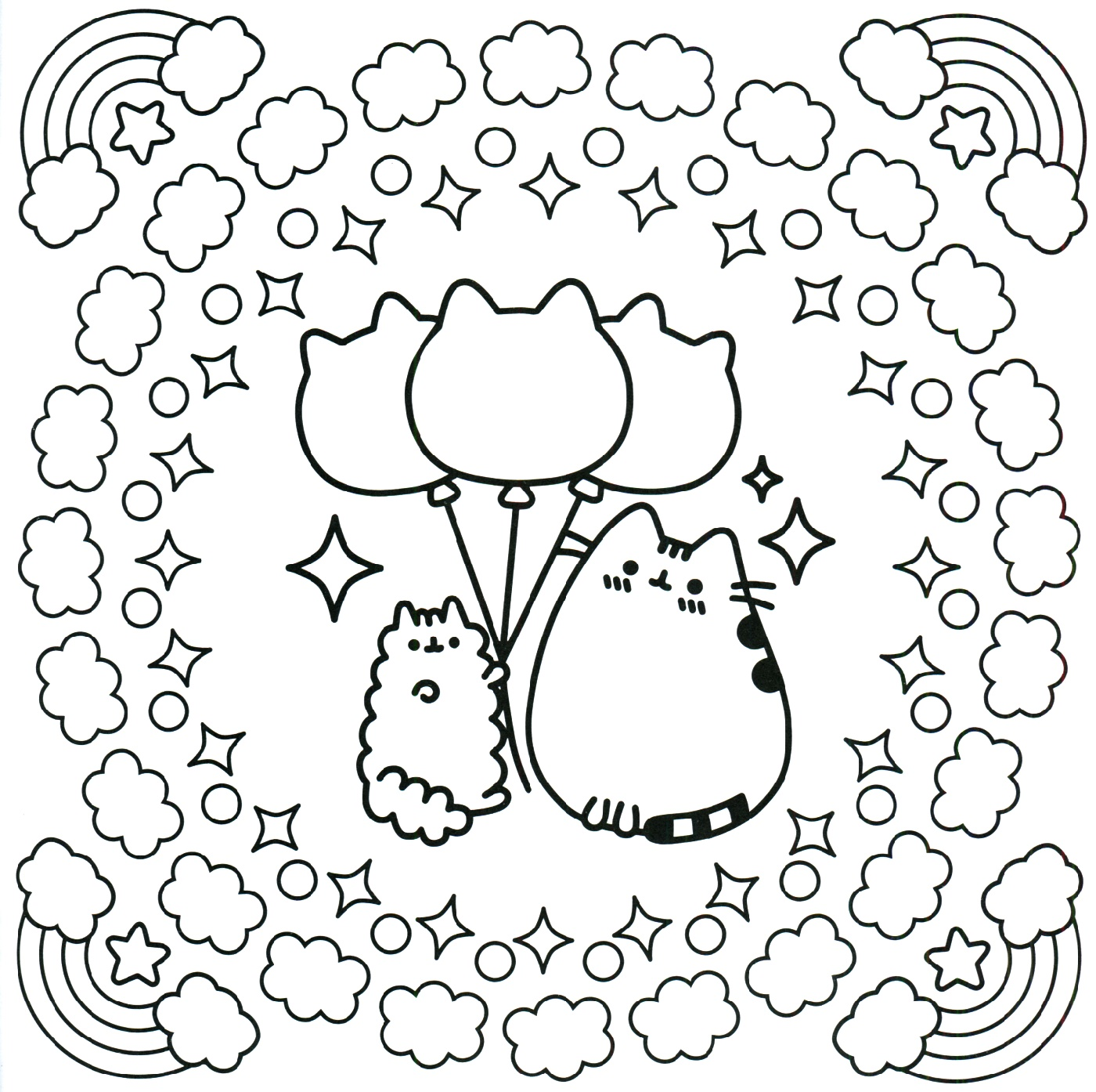 Pusheen Coloring Book Cute