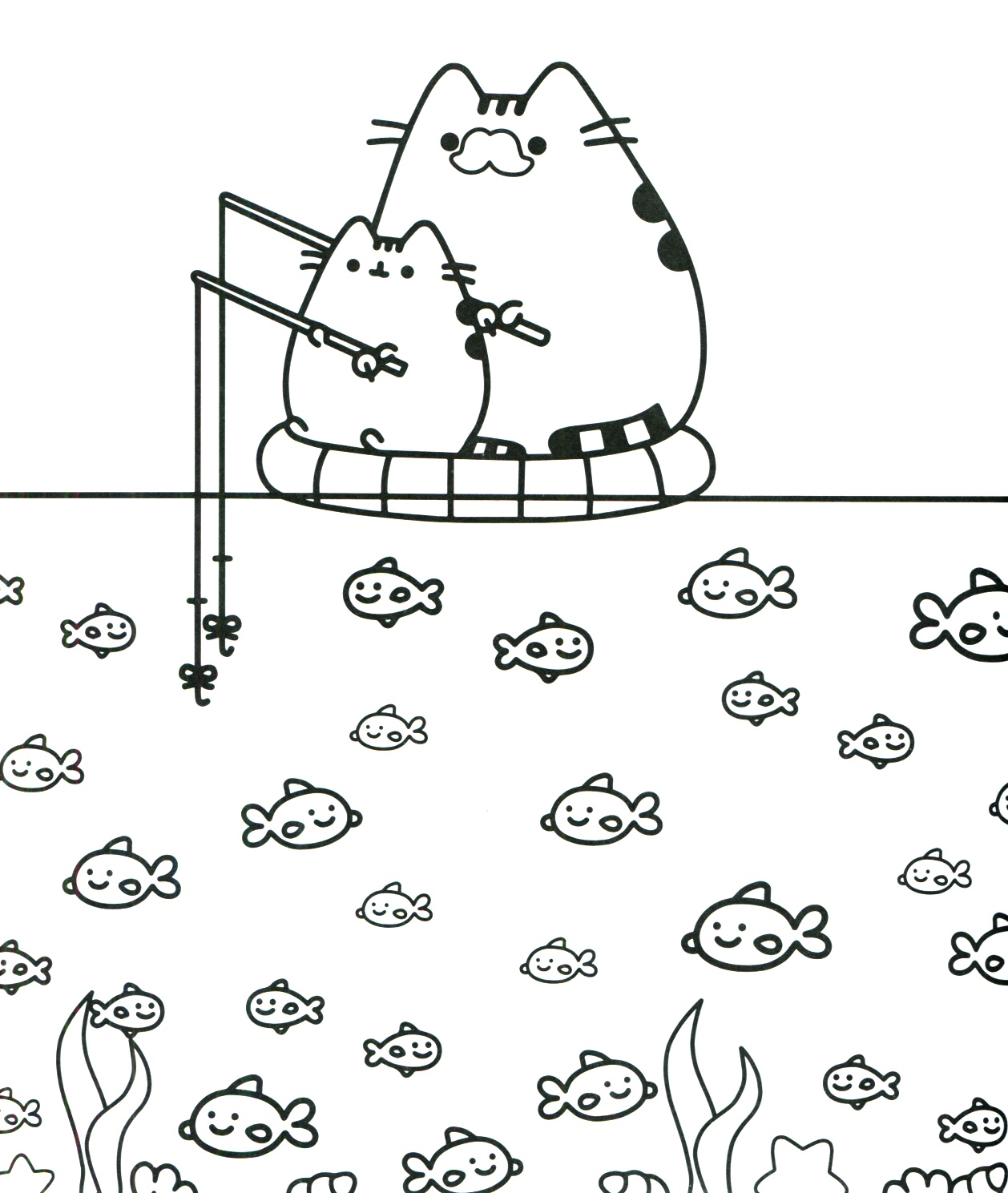 Pusheen Coloring Book For Kids