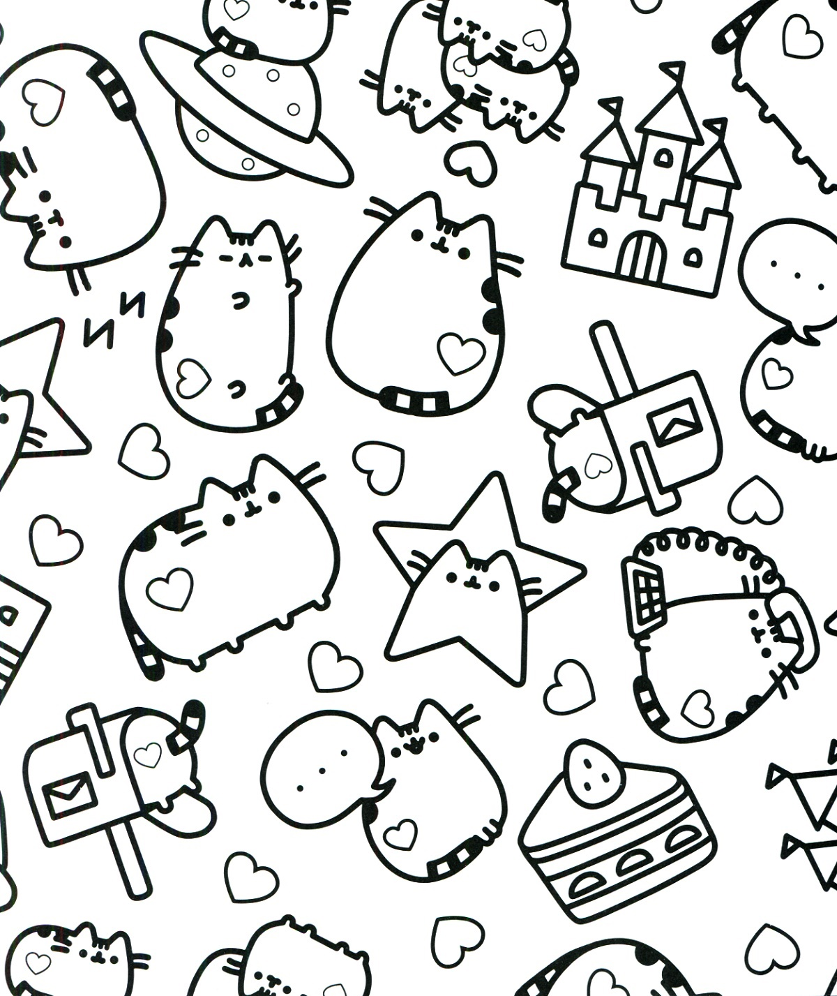 Pusheen Coloring Book Printable