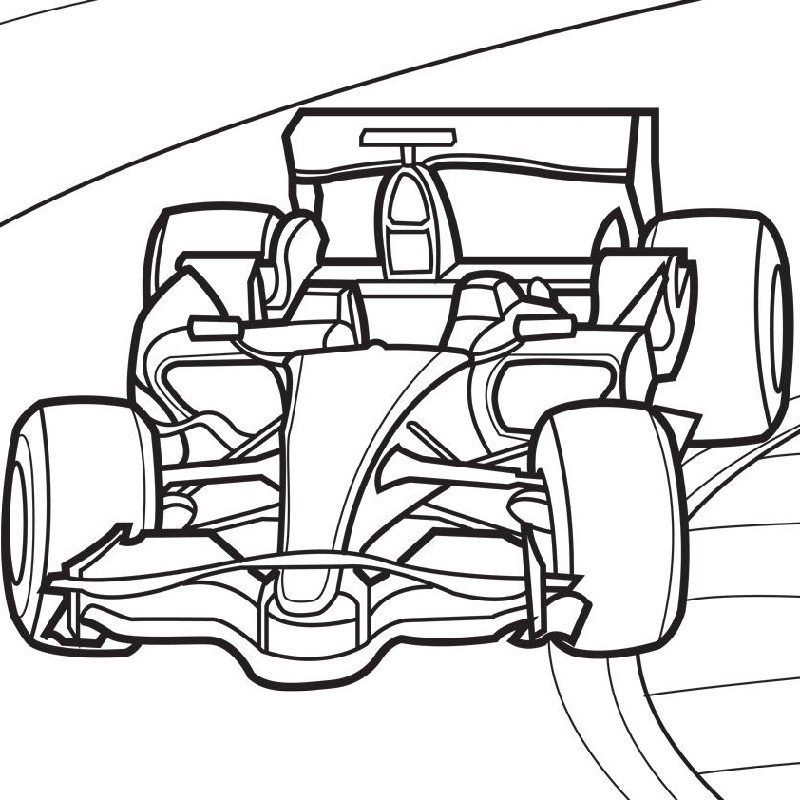 Race Car Coloring Pages Free