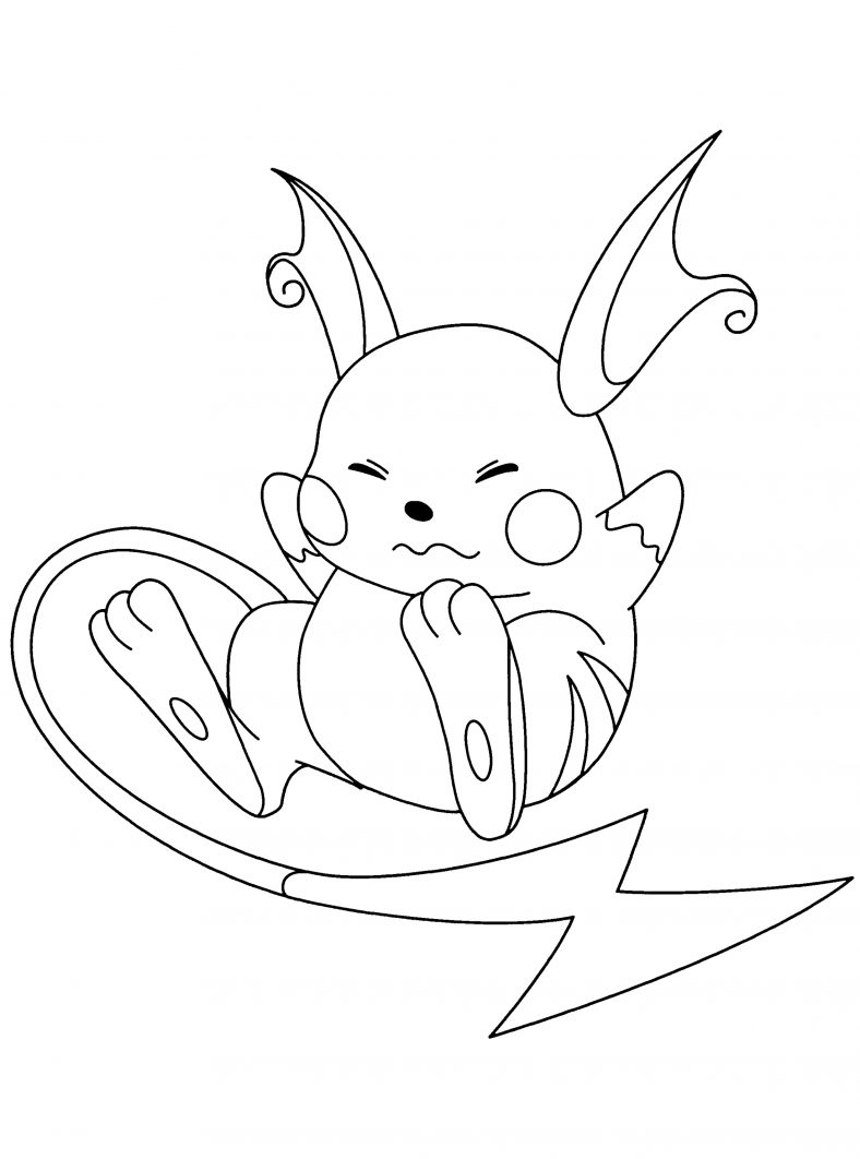 Raichu Coloring Page For Kids