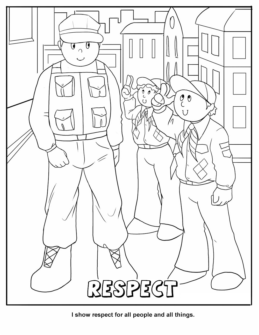 Respect Coloring Pages Cub Scout
