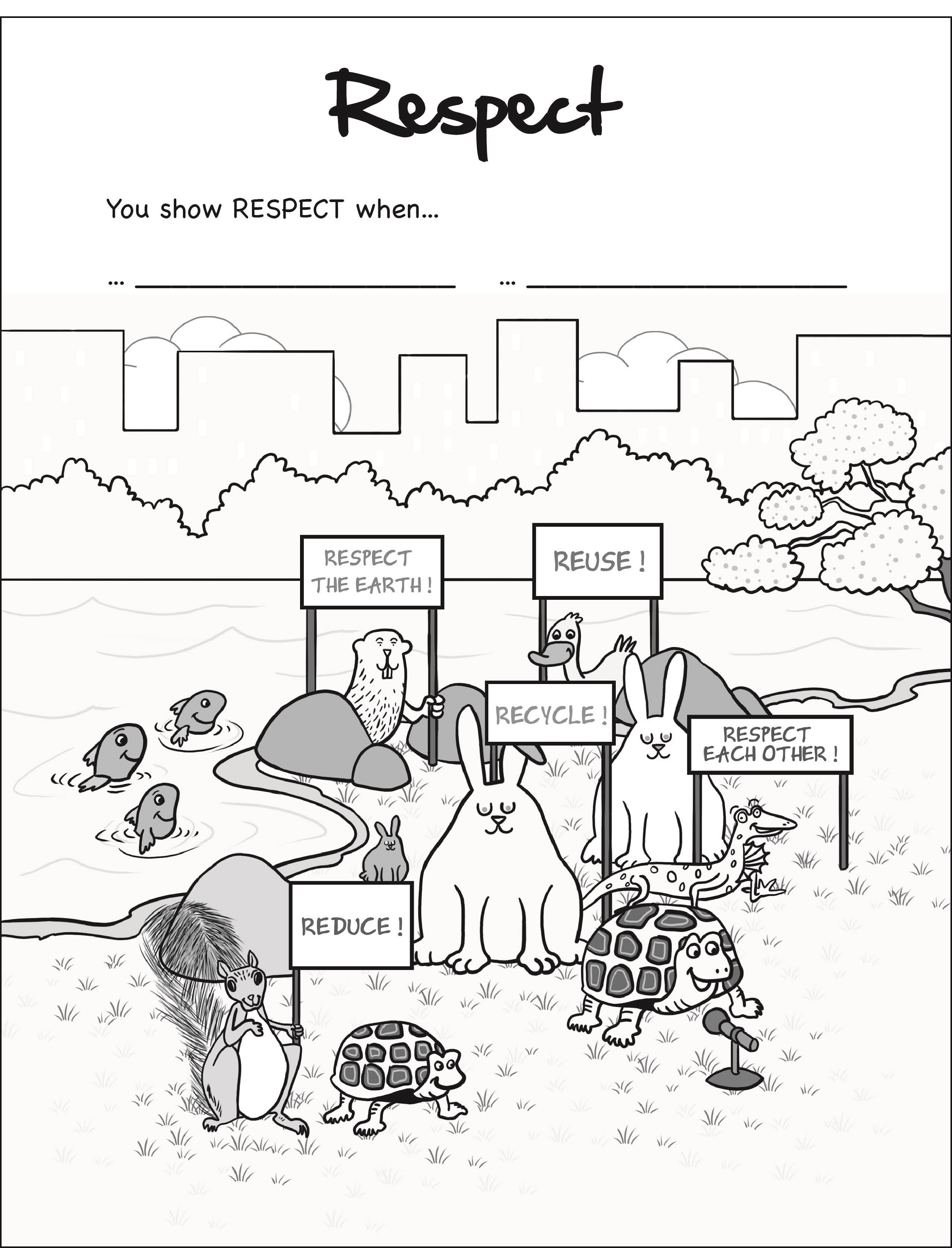 Respect Coloring Pages Showing