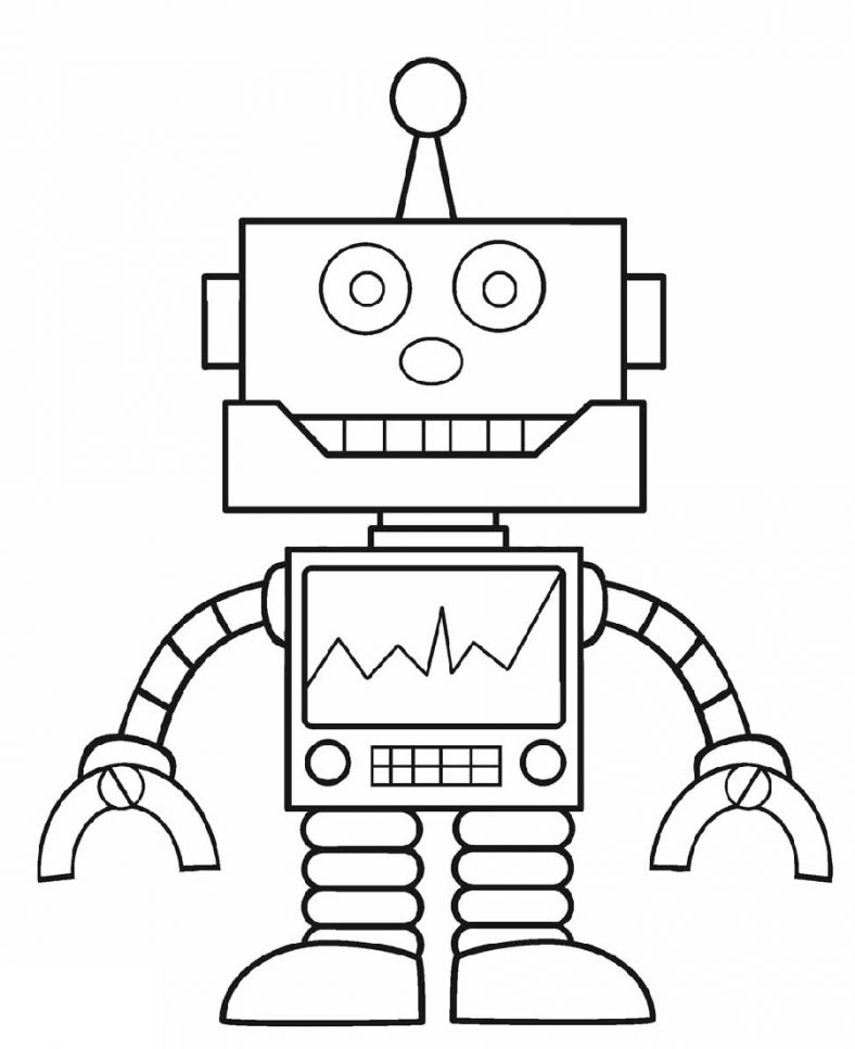 Robot Coloring Pages Free