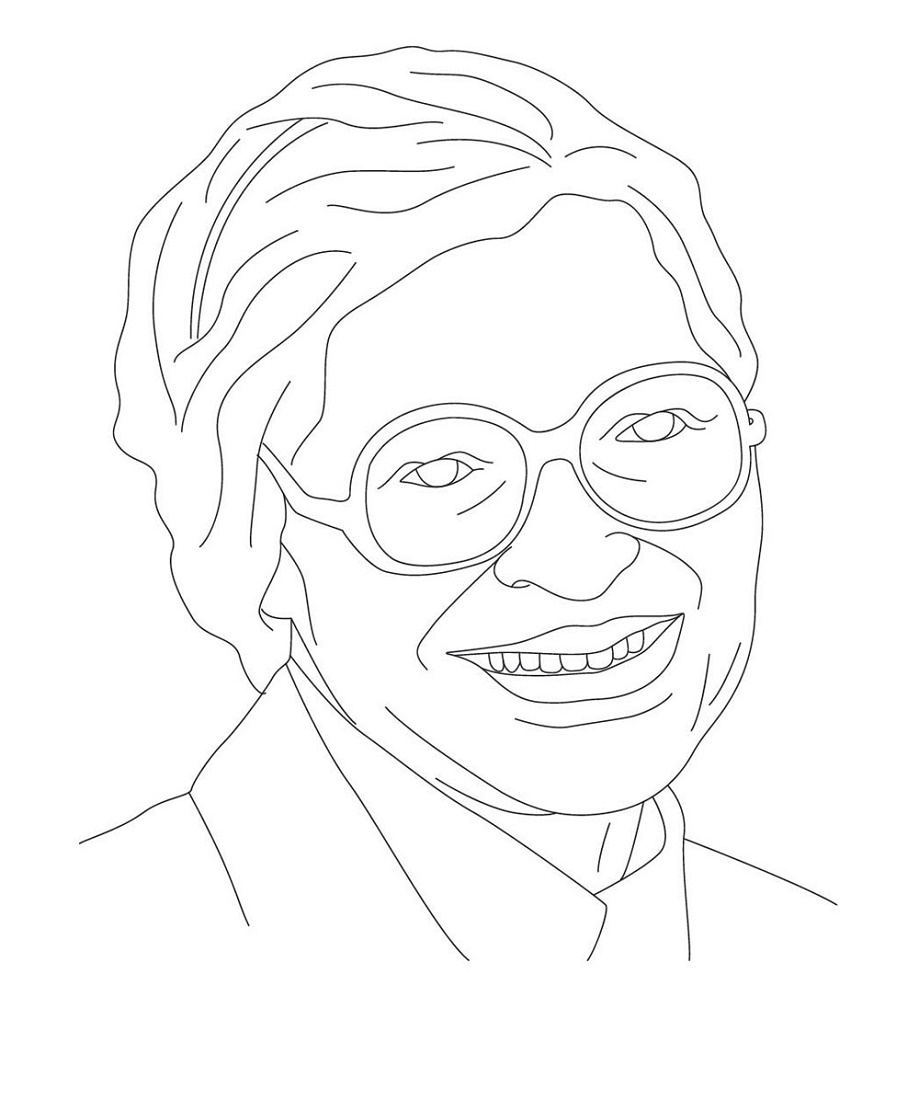 Rosa Parks Coloring Page Free