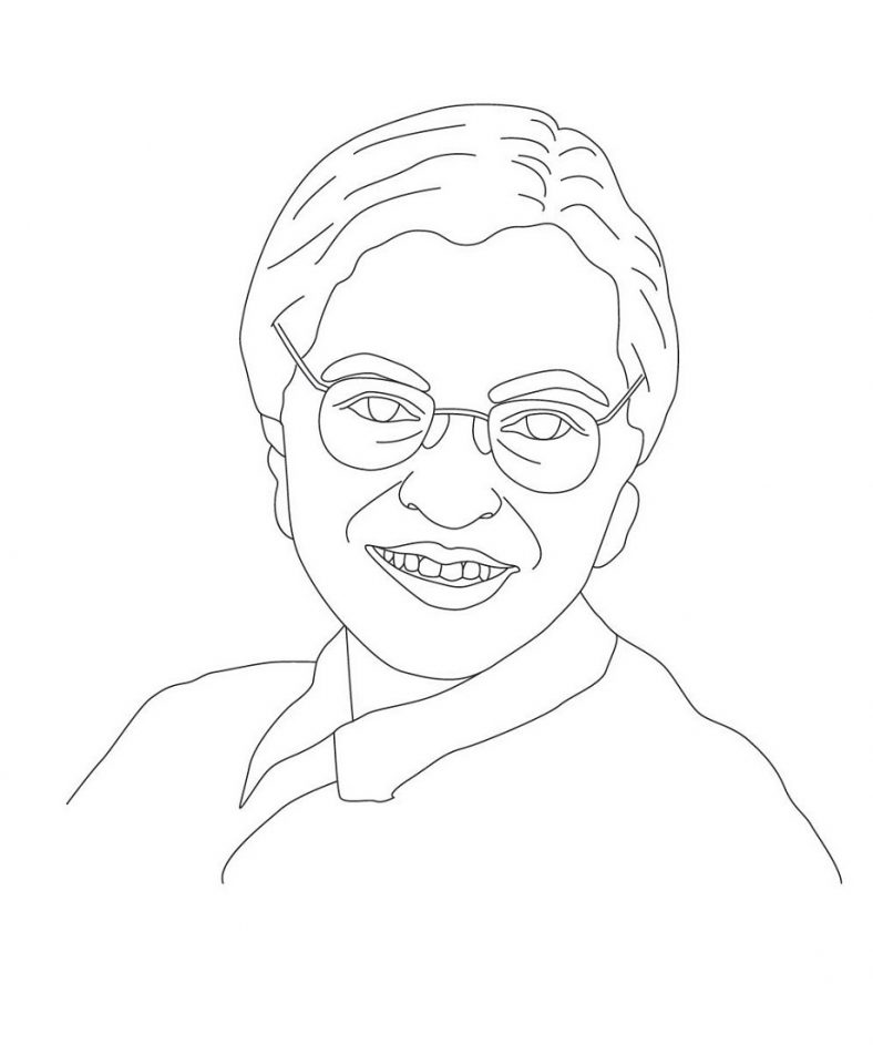 Rosa Parks Coloring Page Printable